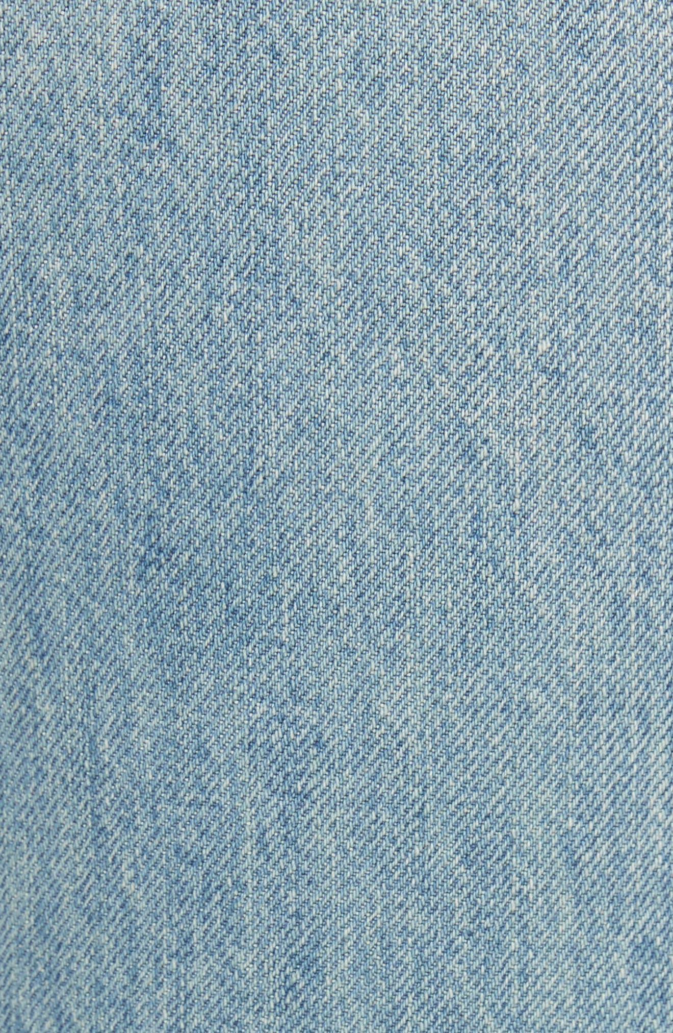 Originals High Waist Ankle Zip Jeans,                             Alternate thumbnail 5, color,                             90S