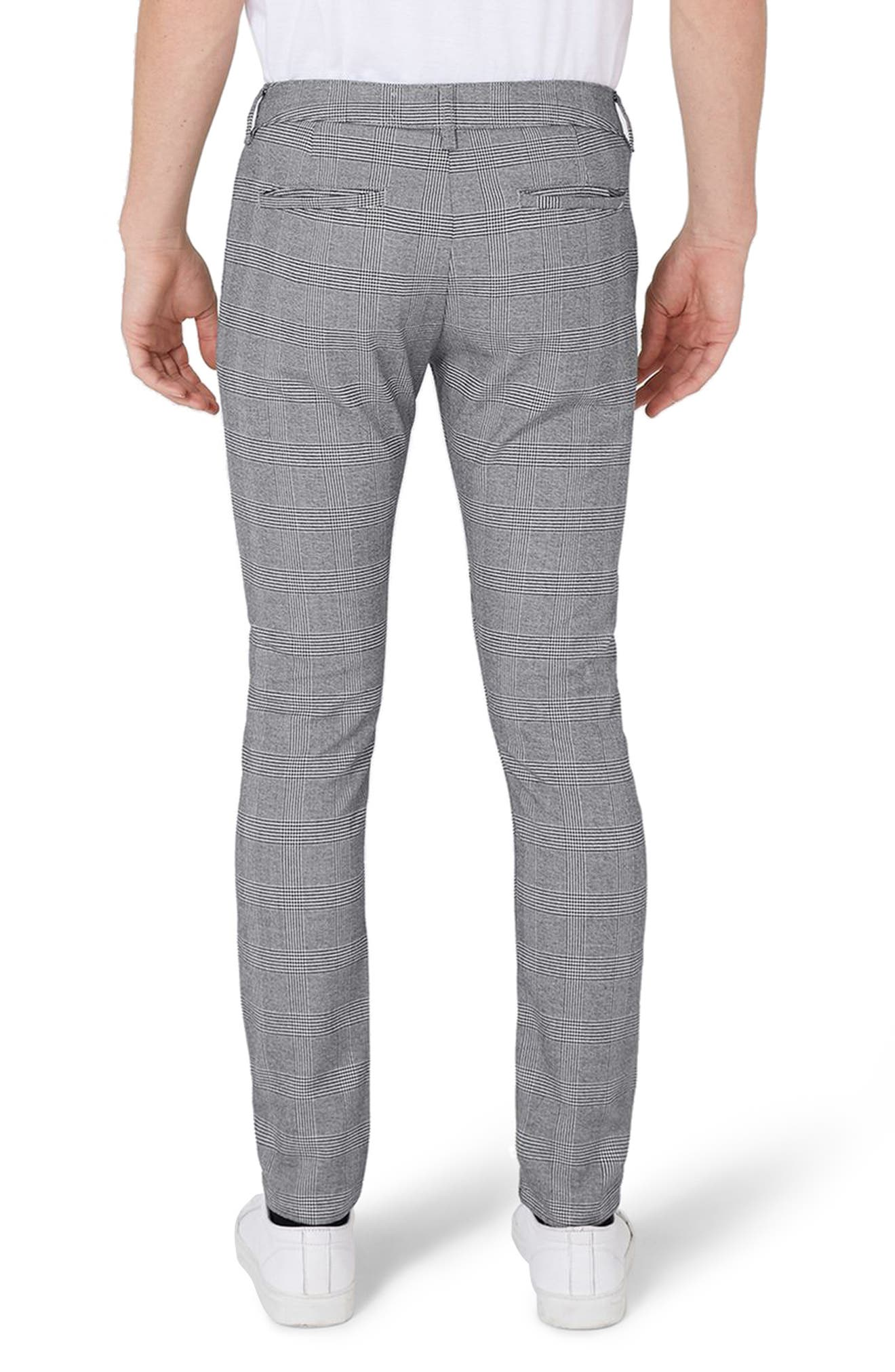 Alternate Image 2  - Topman Stretch Skinny Fit Check Trousers