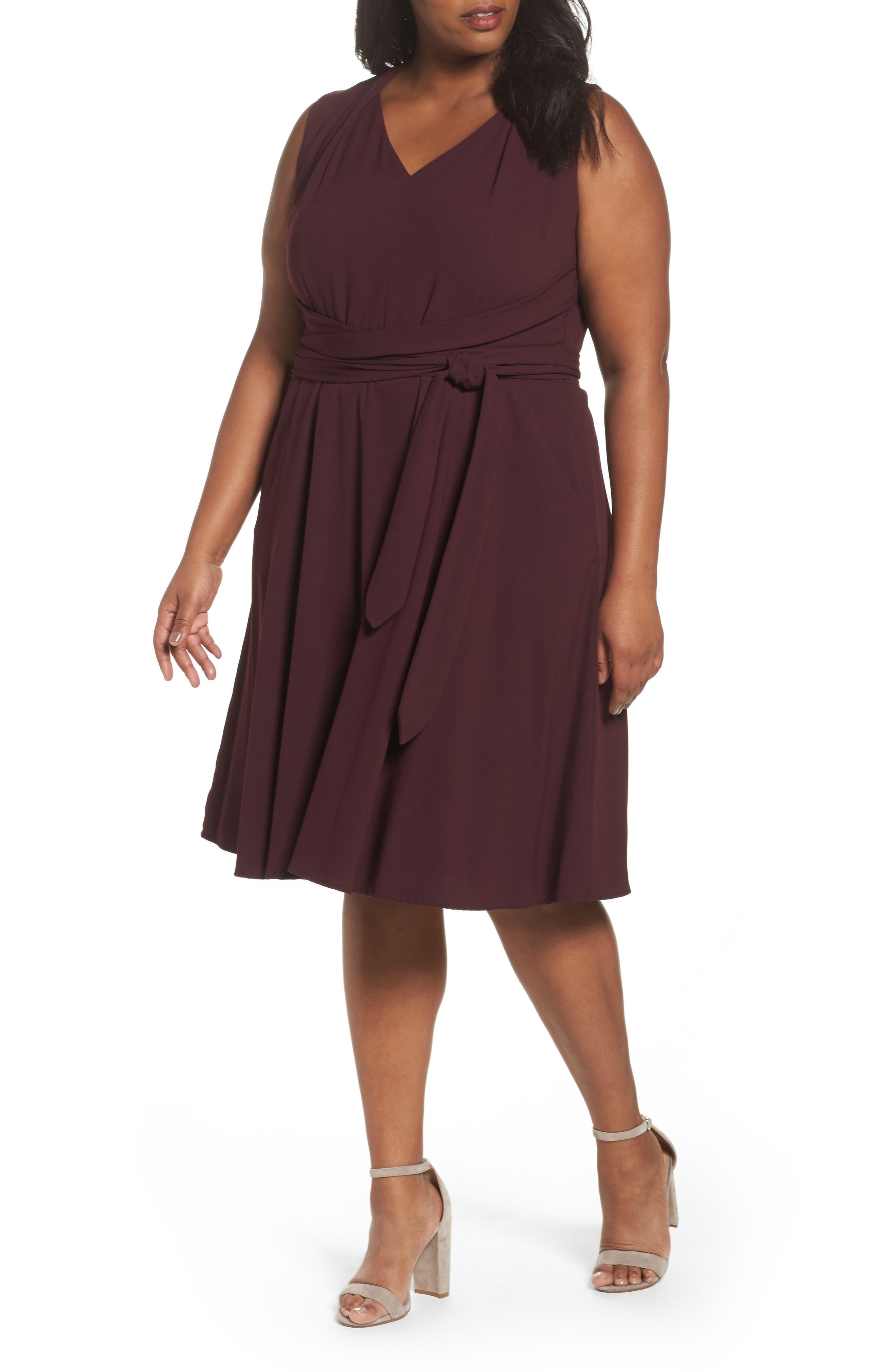 Tahari Fit & Flare Dress (Plus Size)