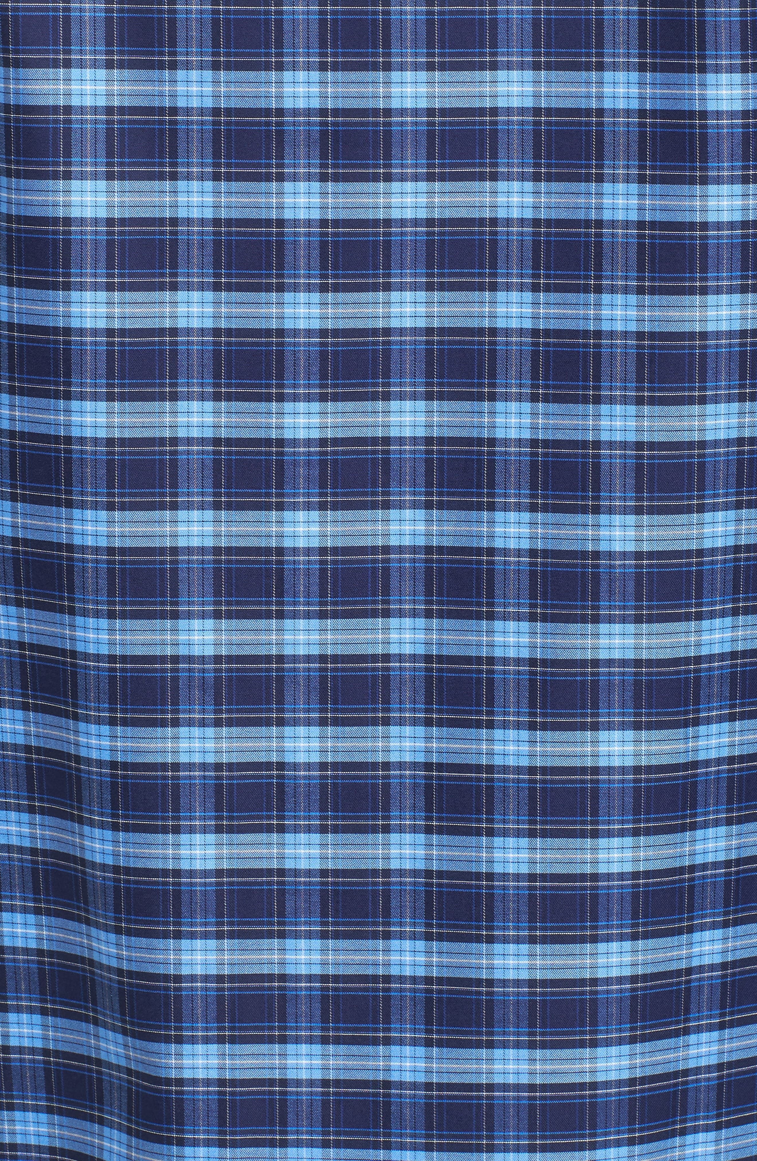 Classic Fit Check Sport Shirt,                             Alternate thumbnail 5, color,                             Navy