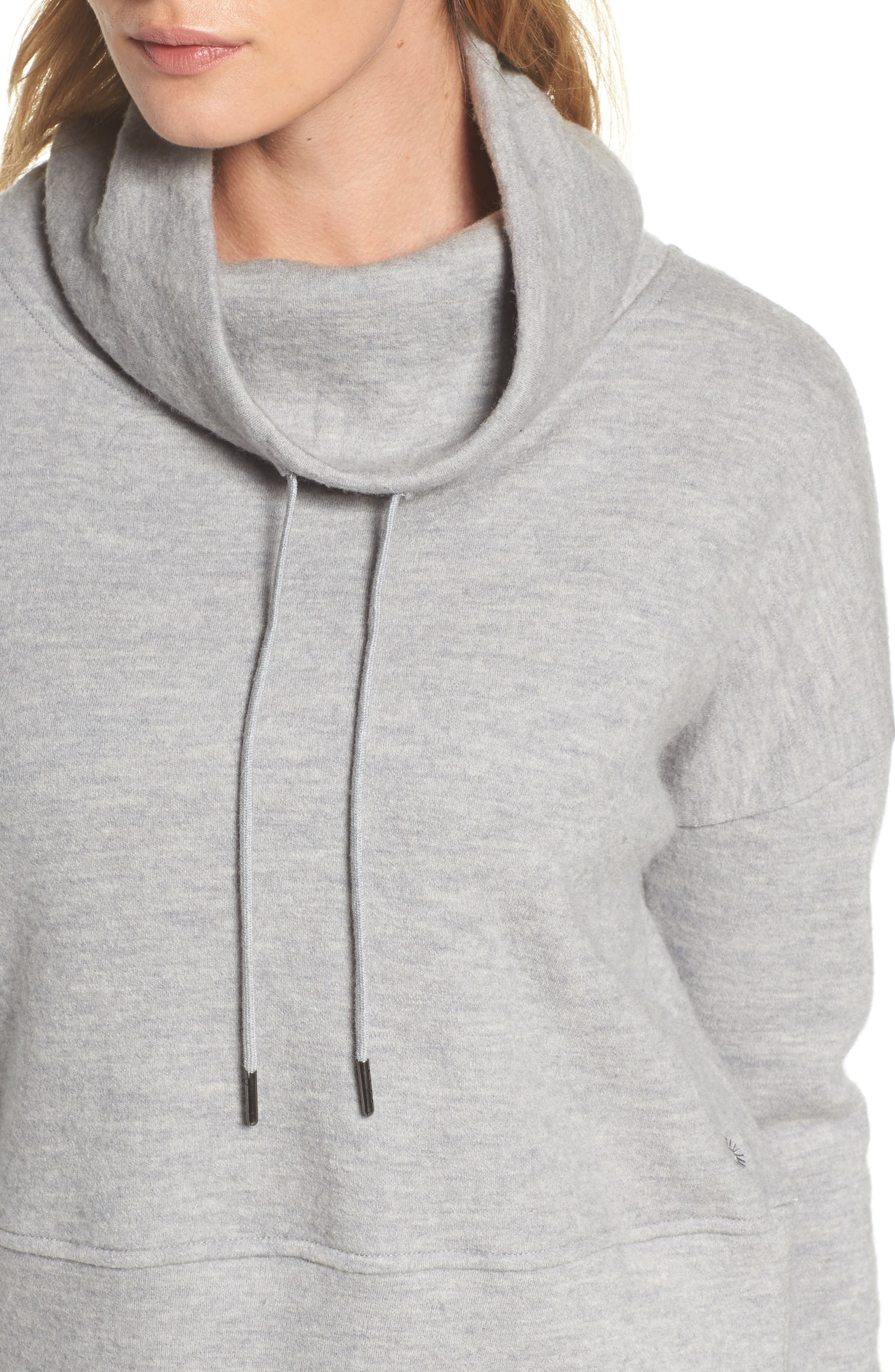 Alternate Image 6  - UGG® Funnel Neck Crop Merino Wool Sweatshirt