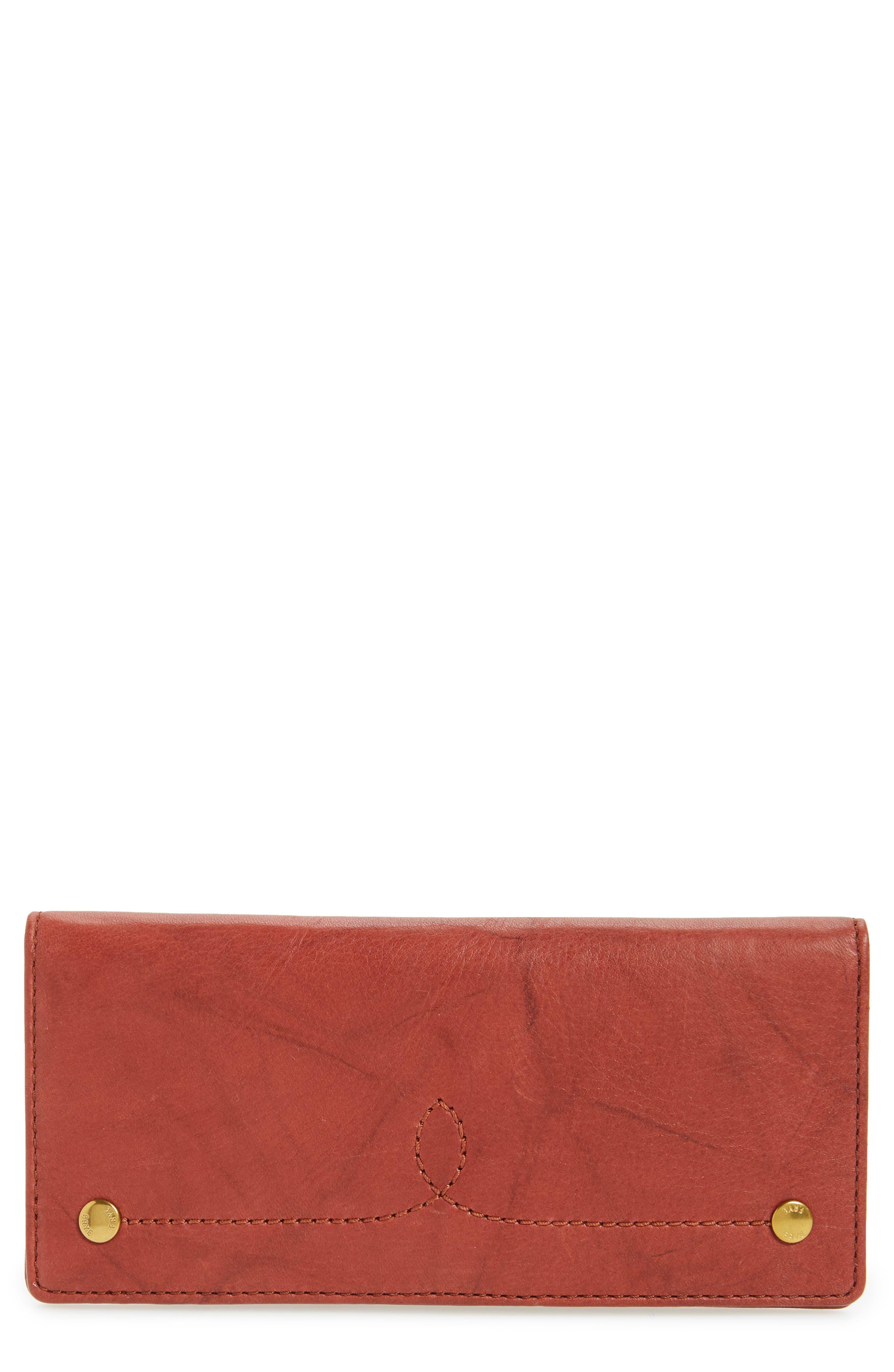 Frye Campus Rivet Slim Leather Wallet
