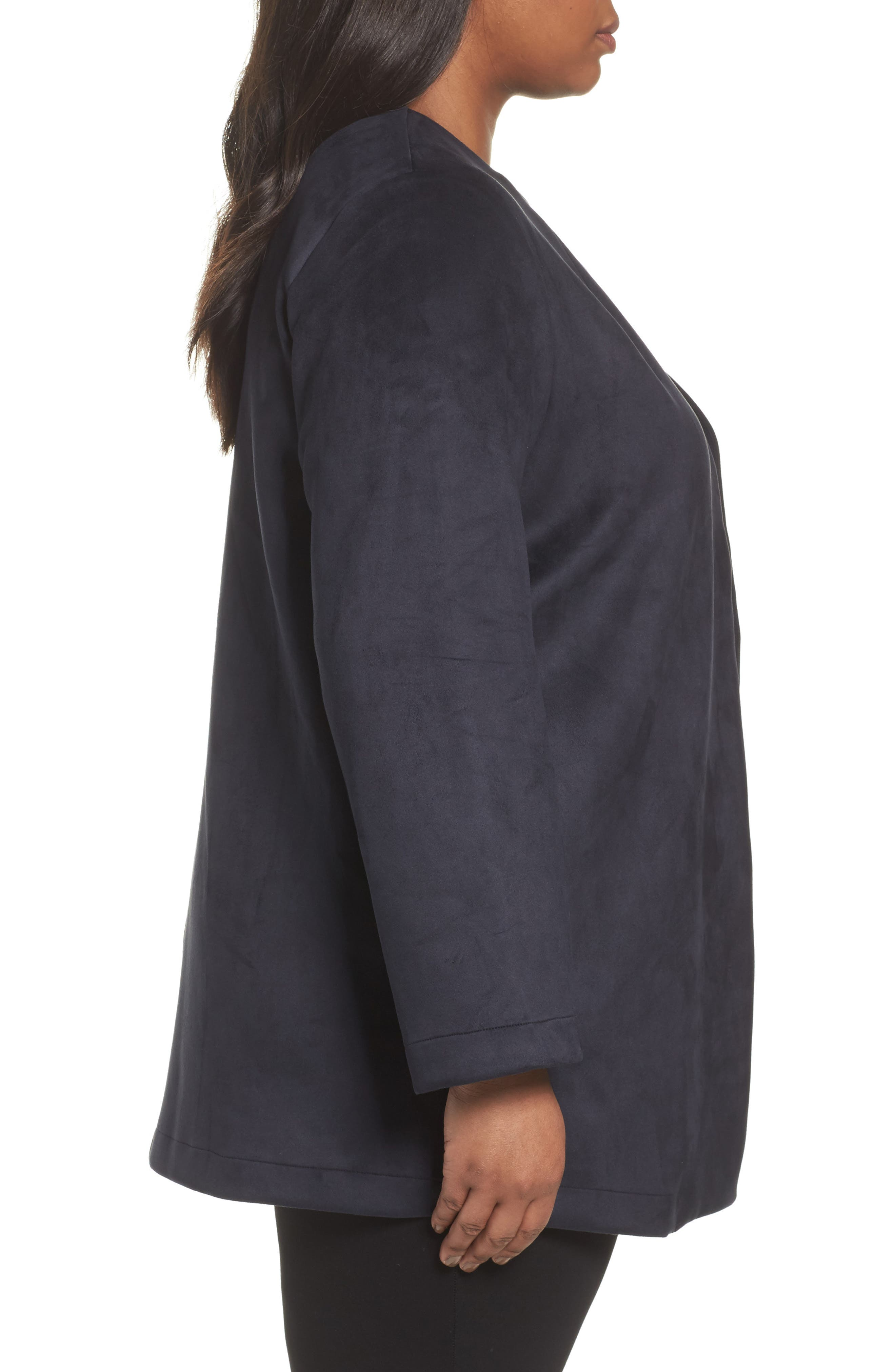 Alternate Image 3  - Persona by Marina Rinaldi Napoli Faux Sude Duster Jacket (Plus Size)