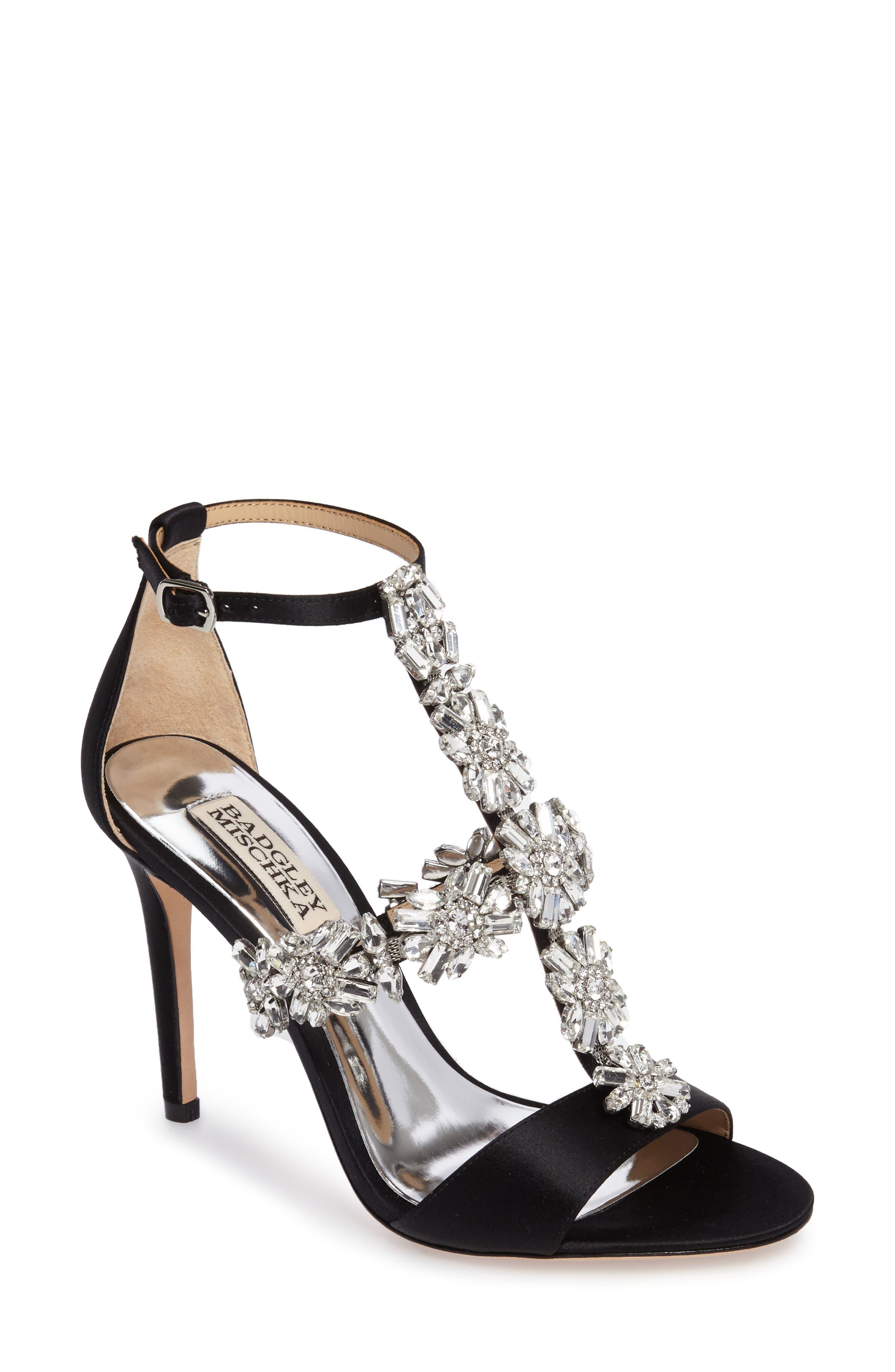 Badgley Mischka Munroe Embellished Sandal (Women)