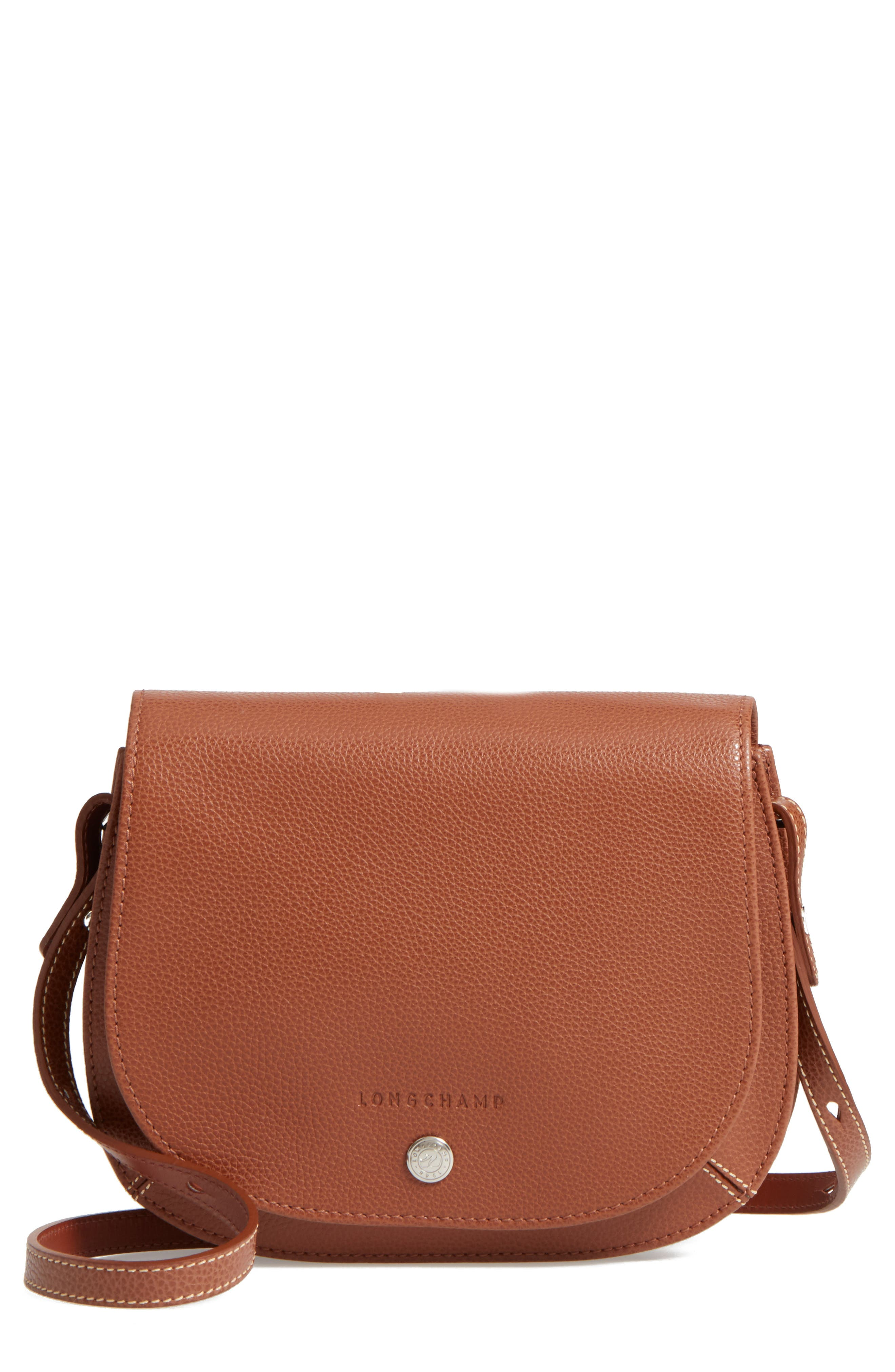 Main Image - Longchamp Small Le Foulonne Leather Crossbody Bag