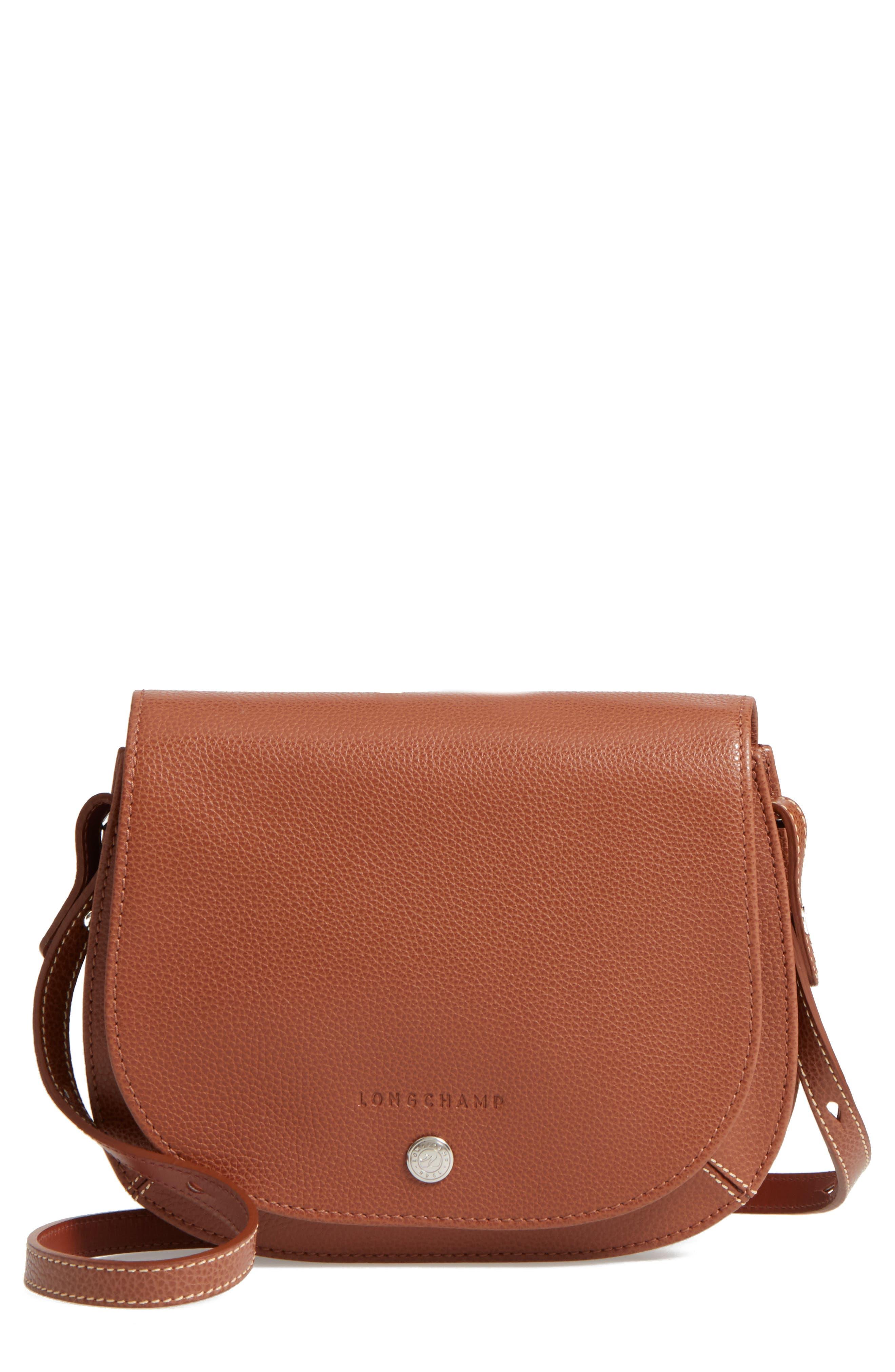 Longchamp Small Le Foulonne Leather Crossbody Bag