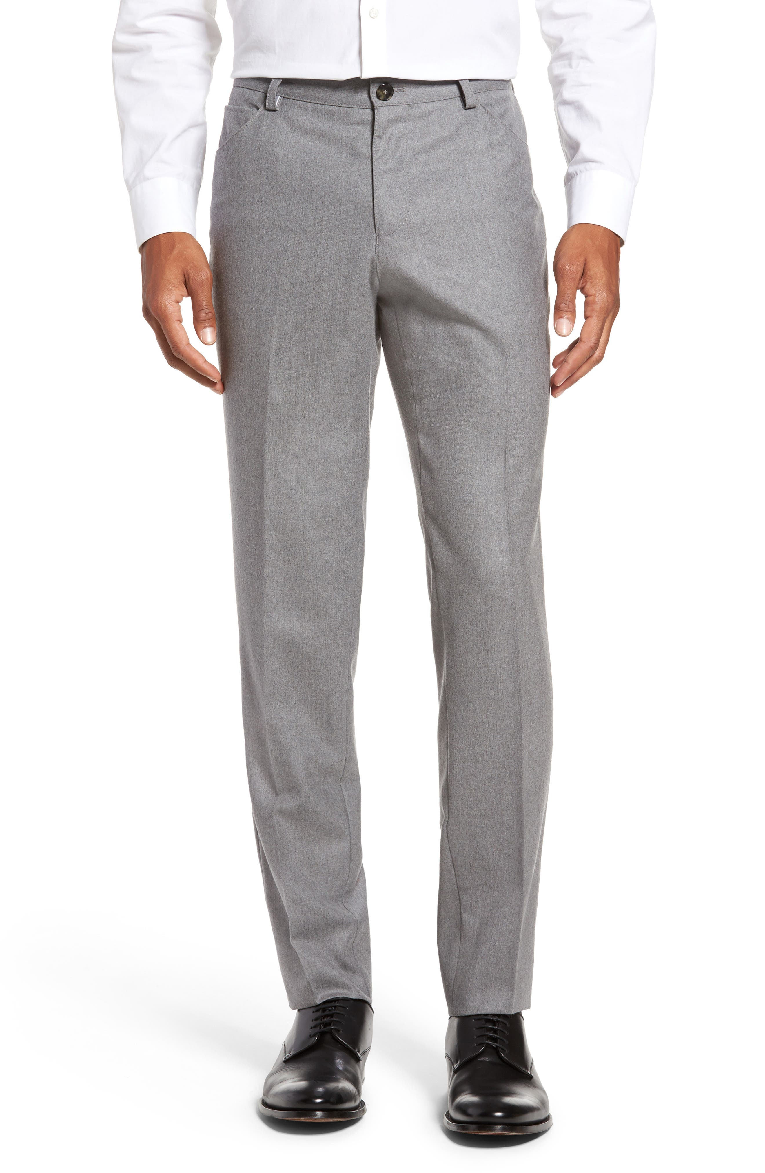 Alternate Image 1 Selected - BOSS Gaetano Regular Fit Wool Trousers