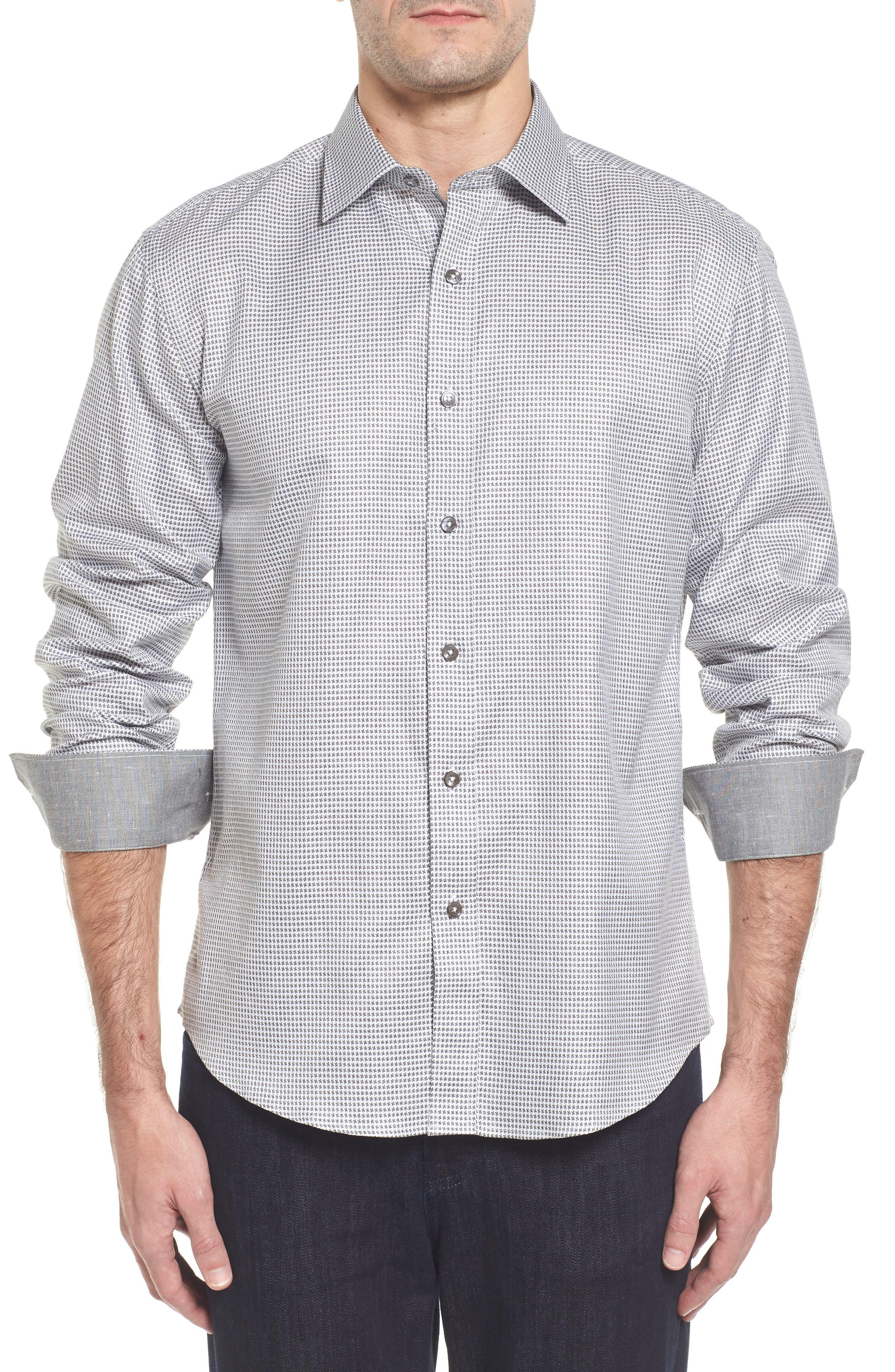Main Image - Bugatchi Slim Fit Dobby Sport Shirt