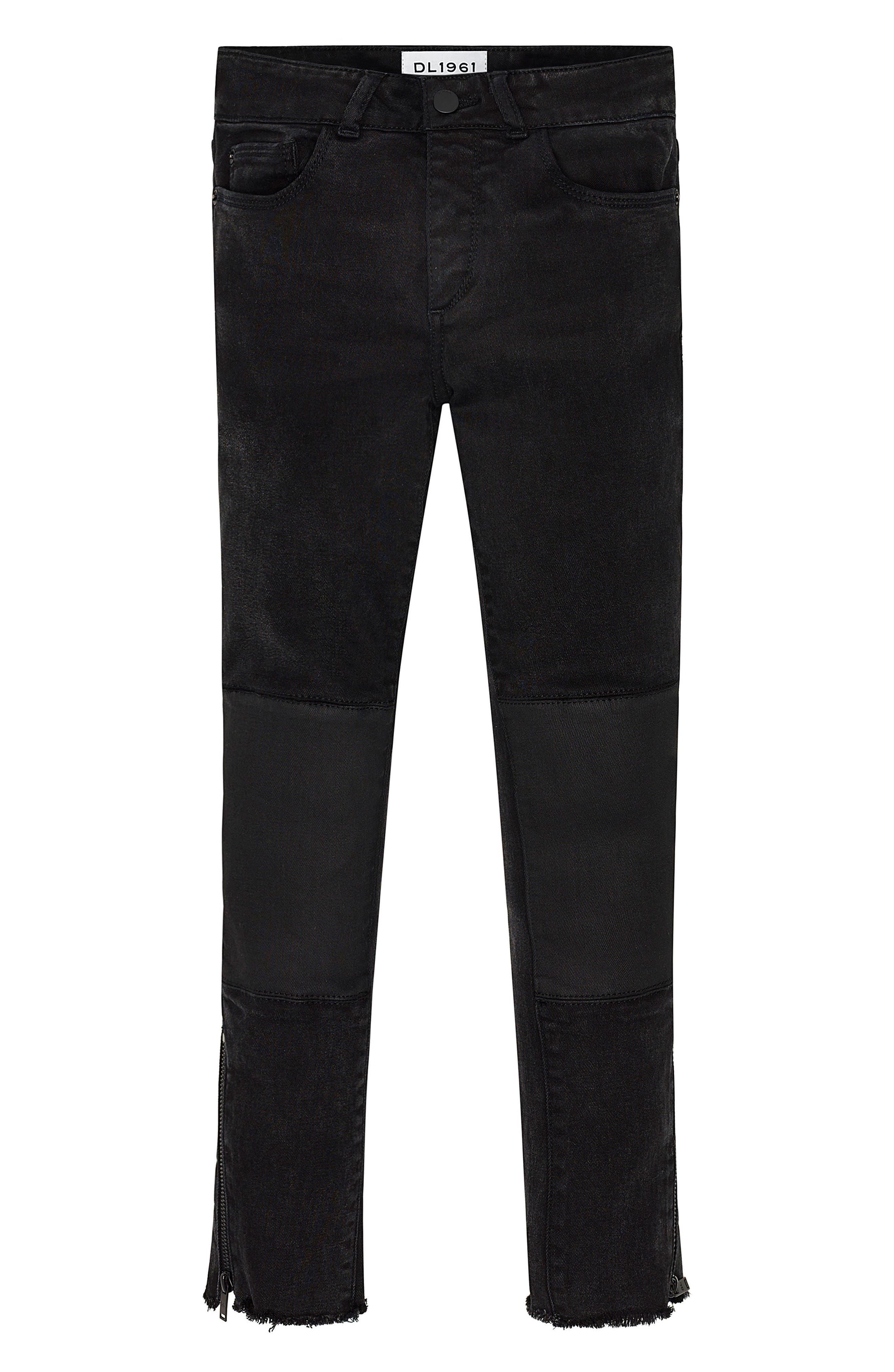 Main Image - DL1961 Chloe Raw Hem Skinny Jeans (Big Girls)