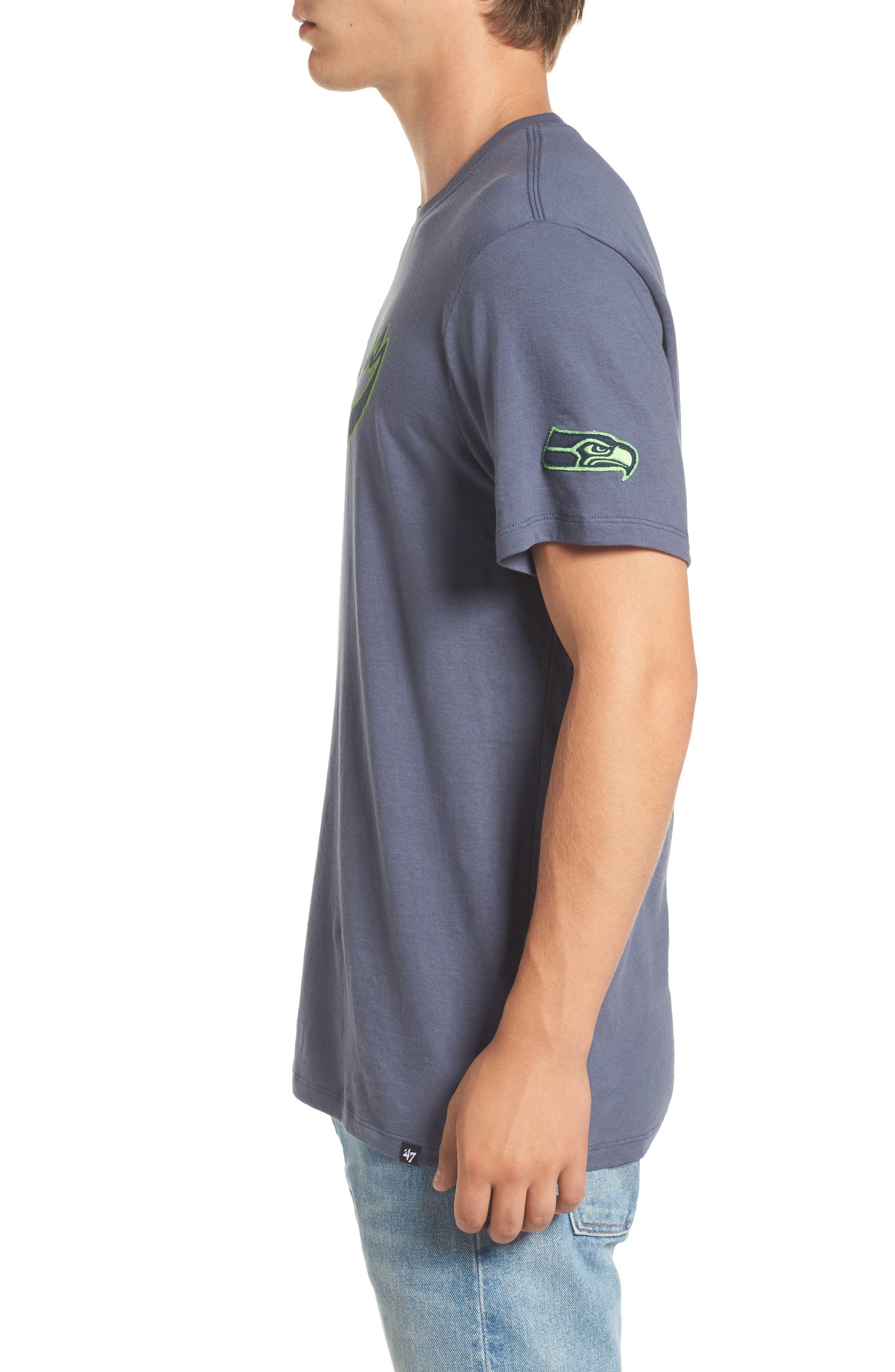 Seattle Seahawks Borderland T-Shirt,                             Alternate thumbnail 3, color,                             Navy