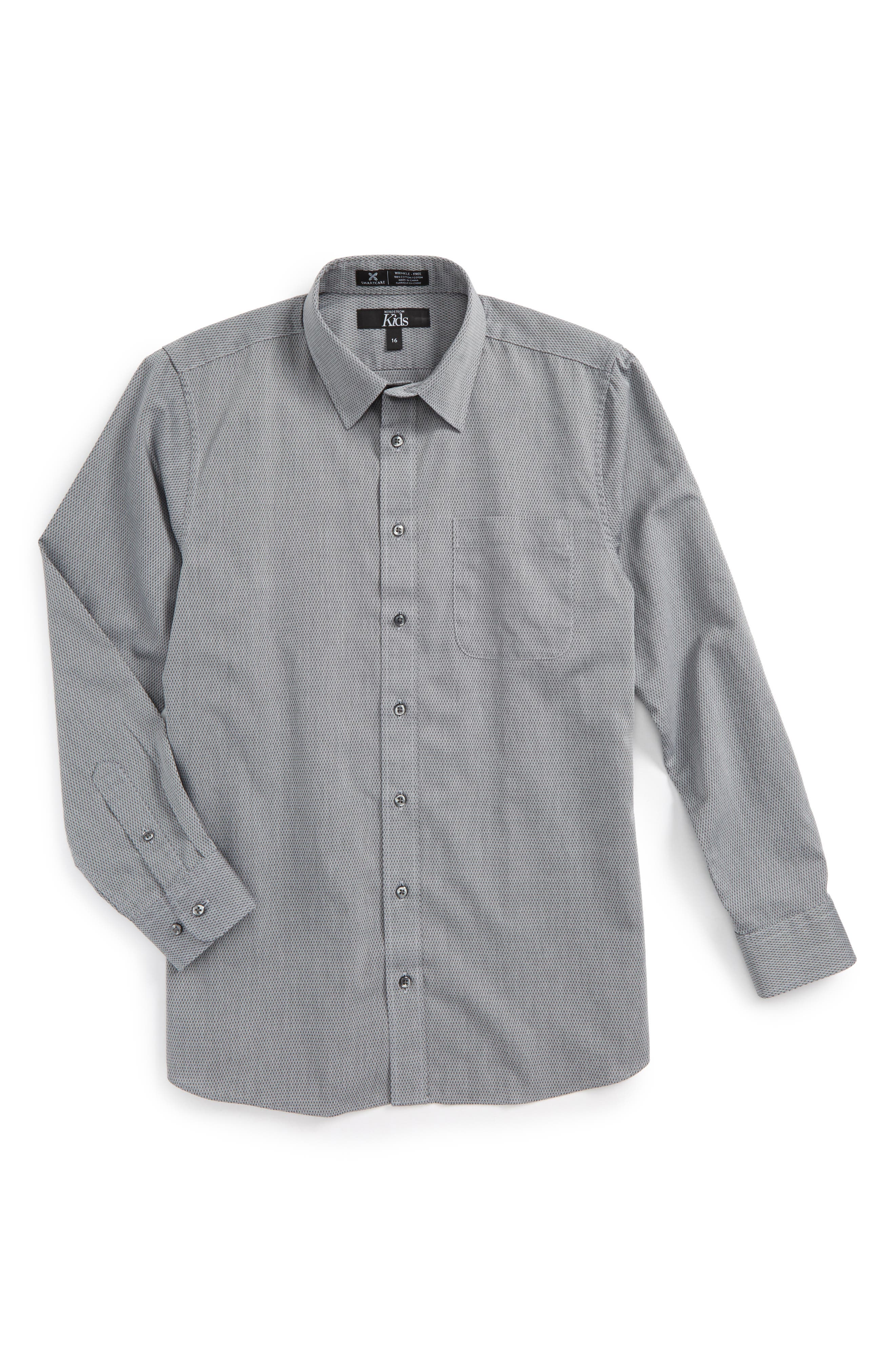 Nordstrom Smartcare™ Zig Zag Dress Shirt (Big Boys)