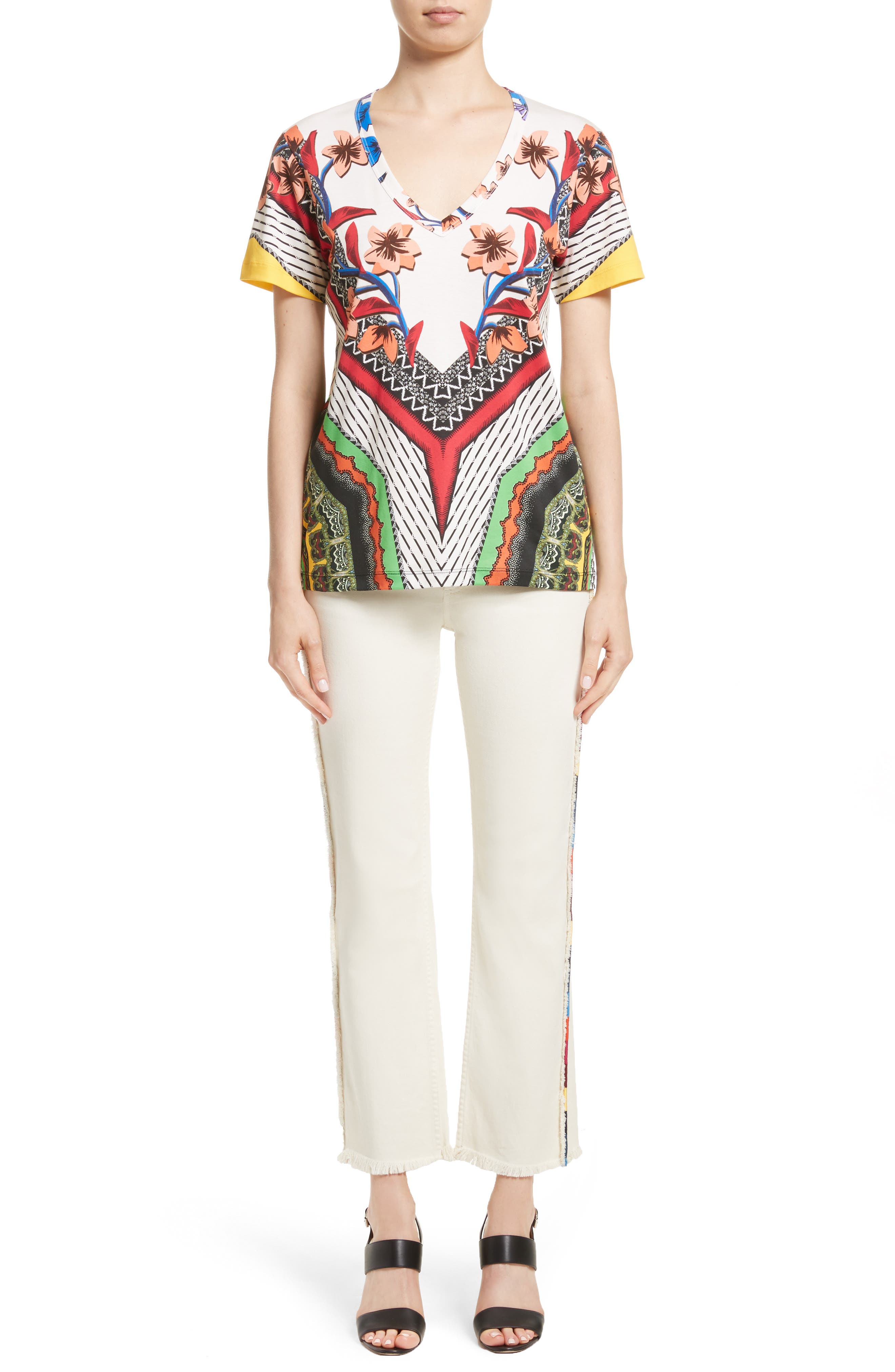 Alternate Image 9  - Etro Embroidered Piping Crop Jeans