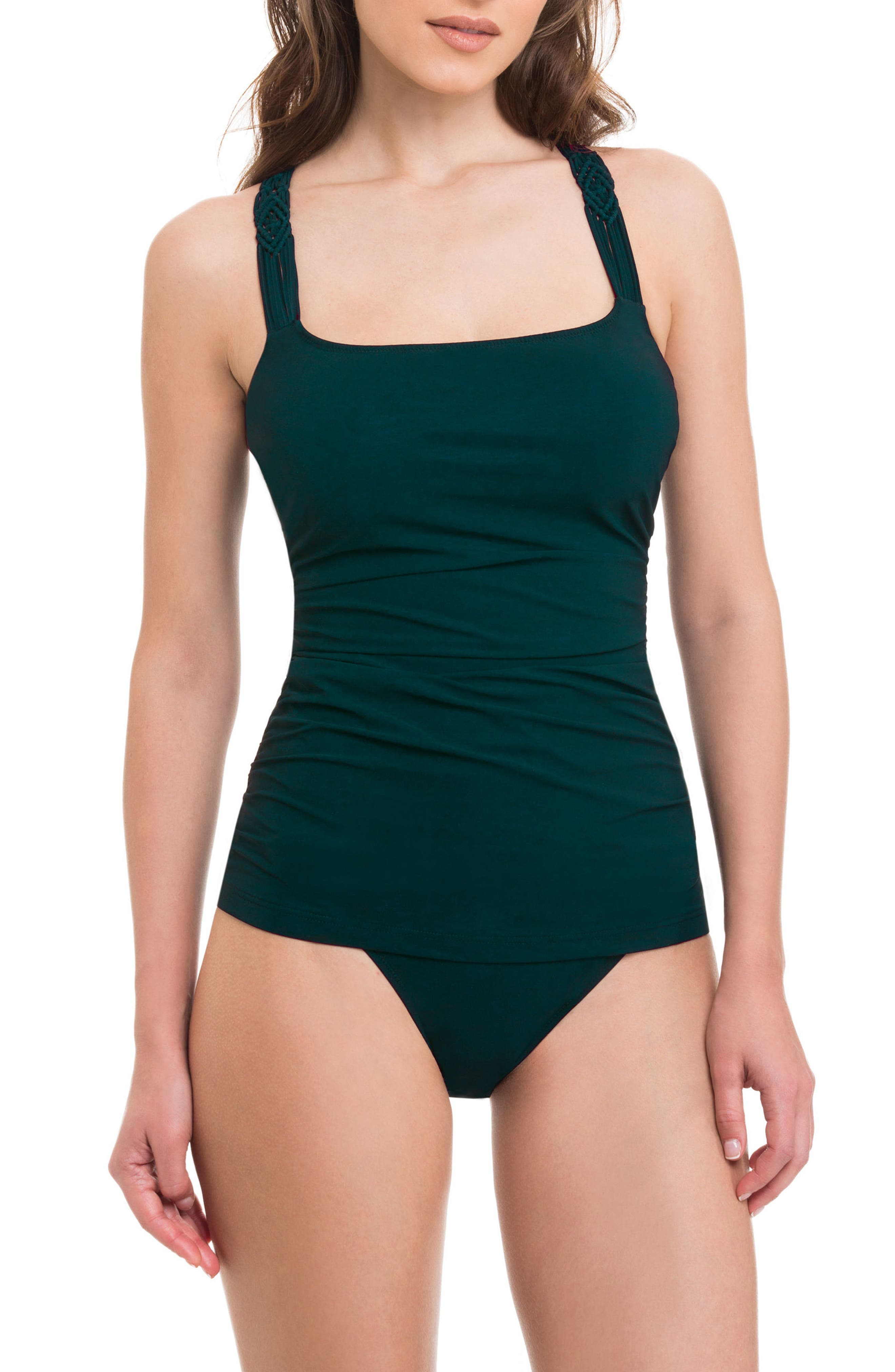 Main Image - Profile by Gottex Java Underwire Tankini Top (D-Cup)