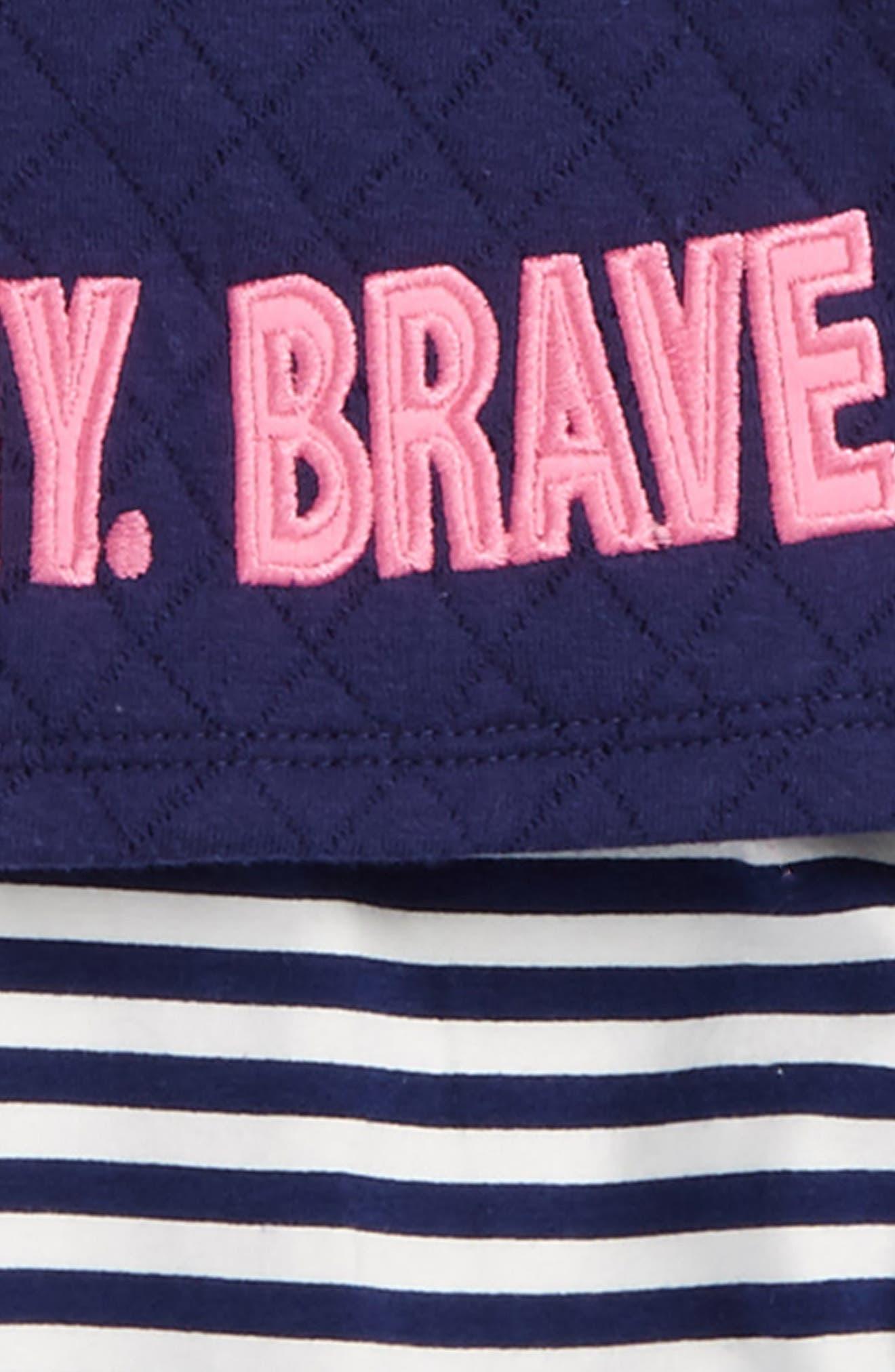 Alternate Image 2  - Rosie Pope Smart Funny Brave Tee, Leggings & Skirt Set (Baby Girls)