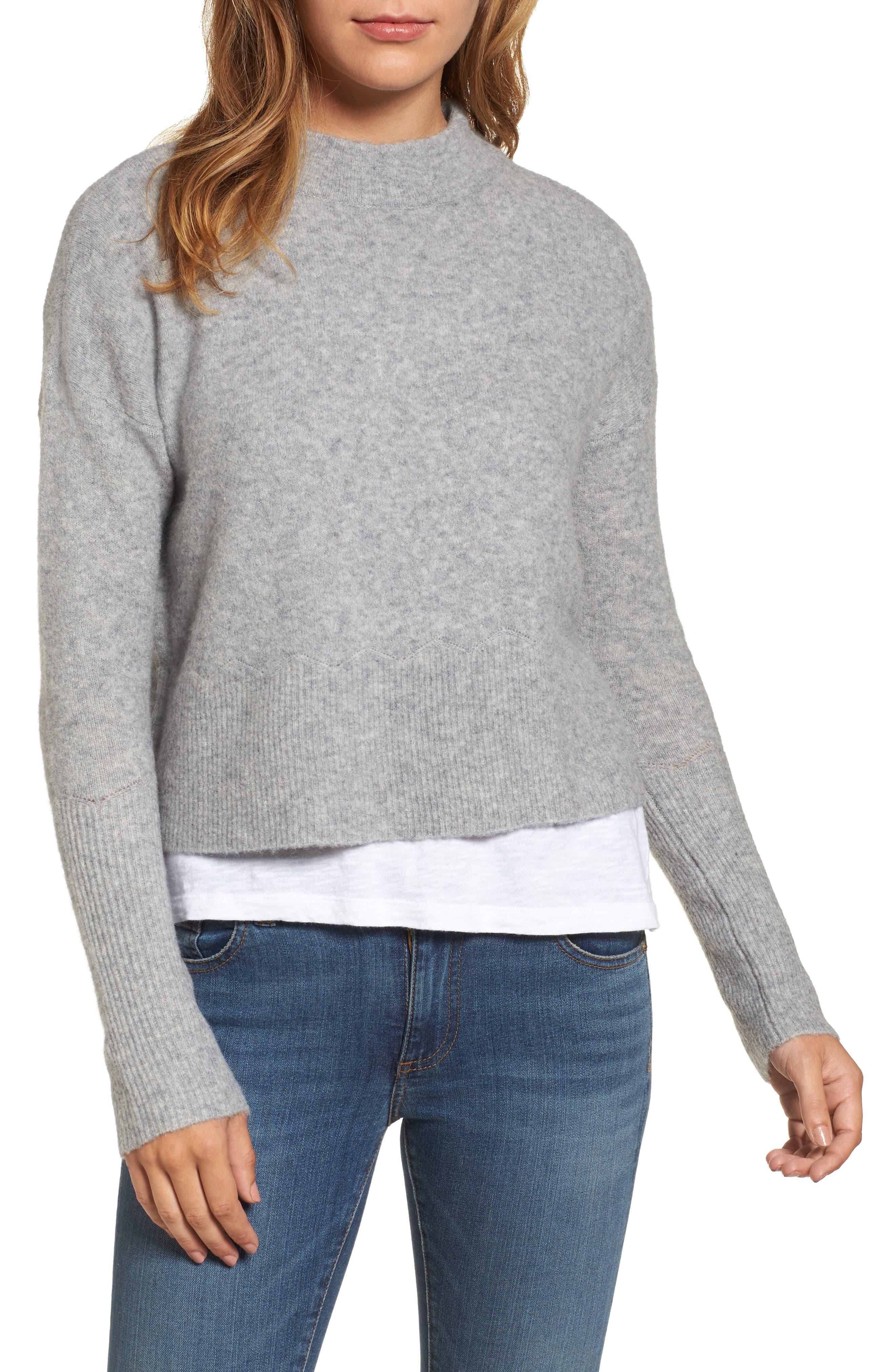 vineyard vines Mock Neck Crop Sweater