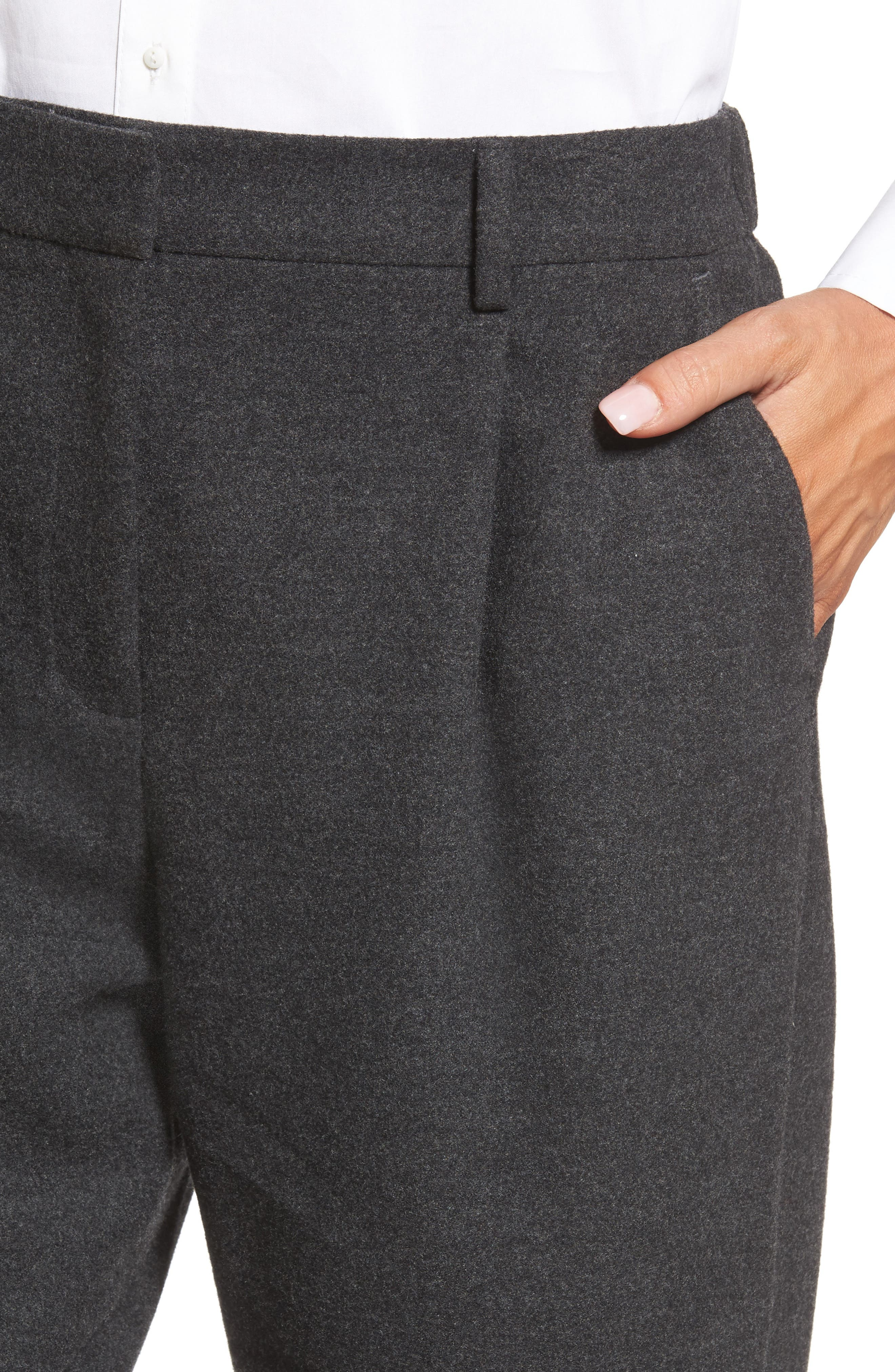 Relaxed Ankle Pants,                             Alternate thumbnail 4, color,                             Heather Grey