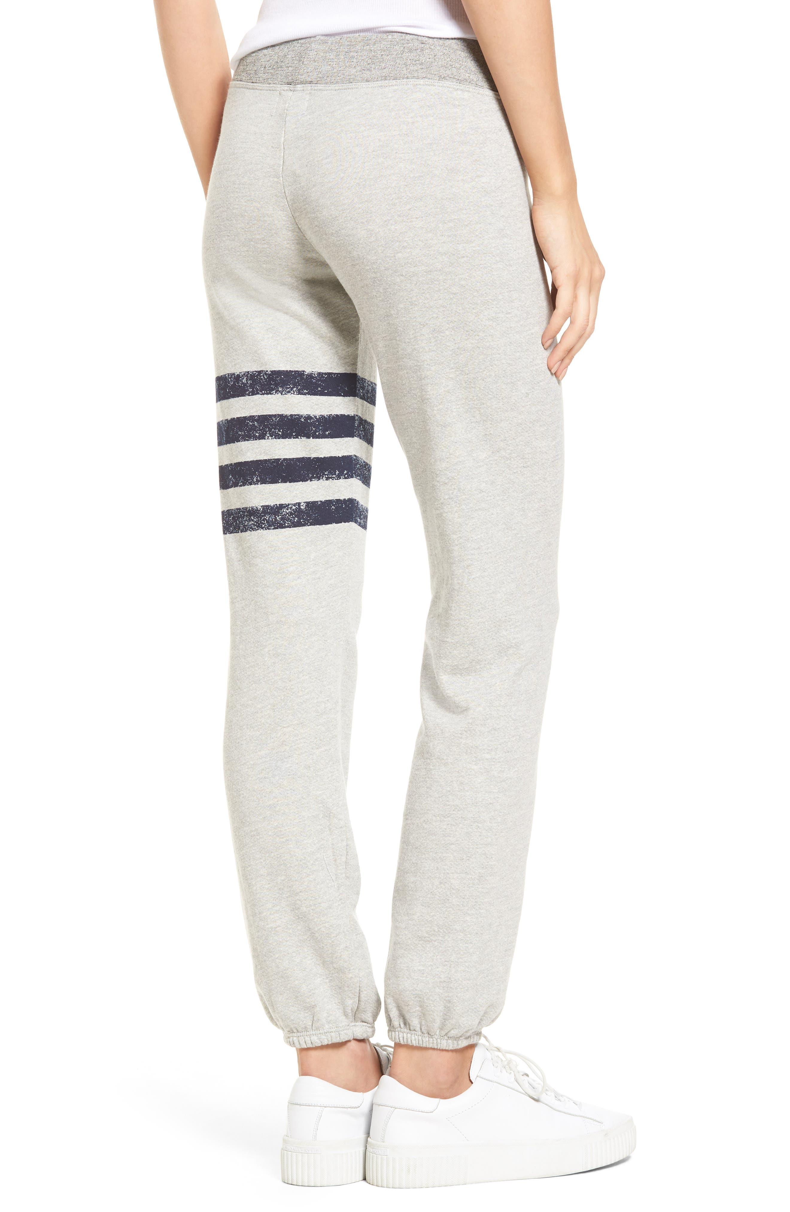 Stripe Yoga Pants,                             Alternate thumbnail 2, color,                             Soft Black