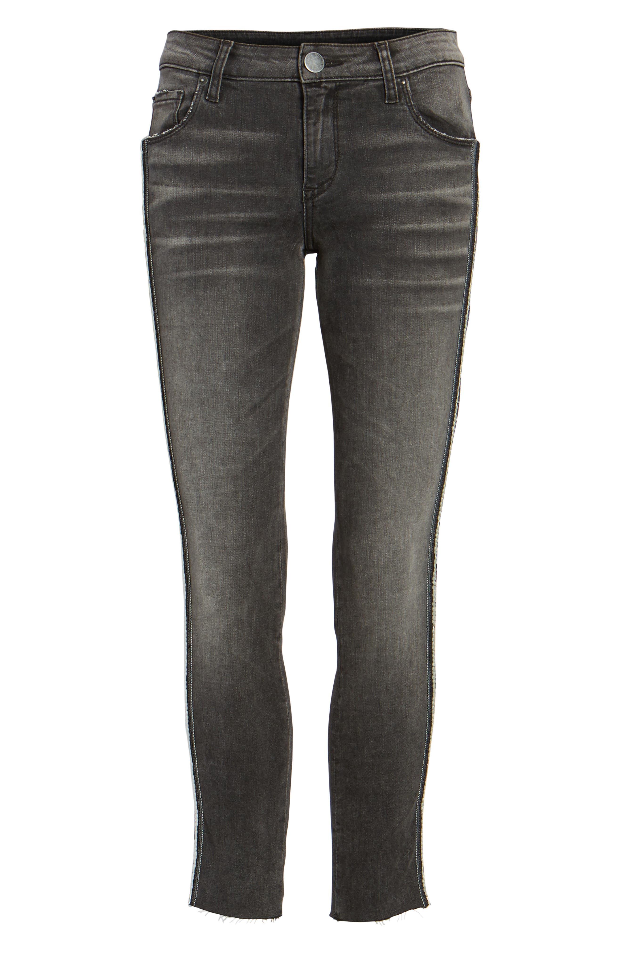 Alternate Image 6  - STS Blue Tuxedo Stripe Skinny Jeans