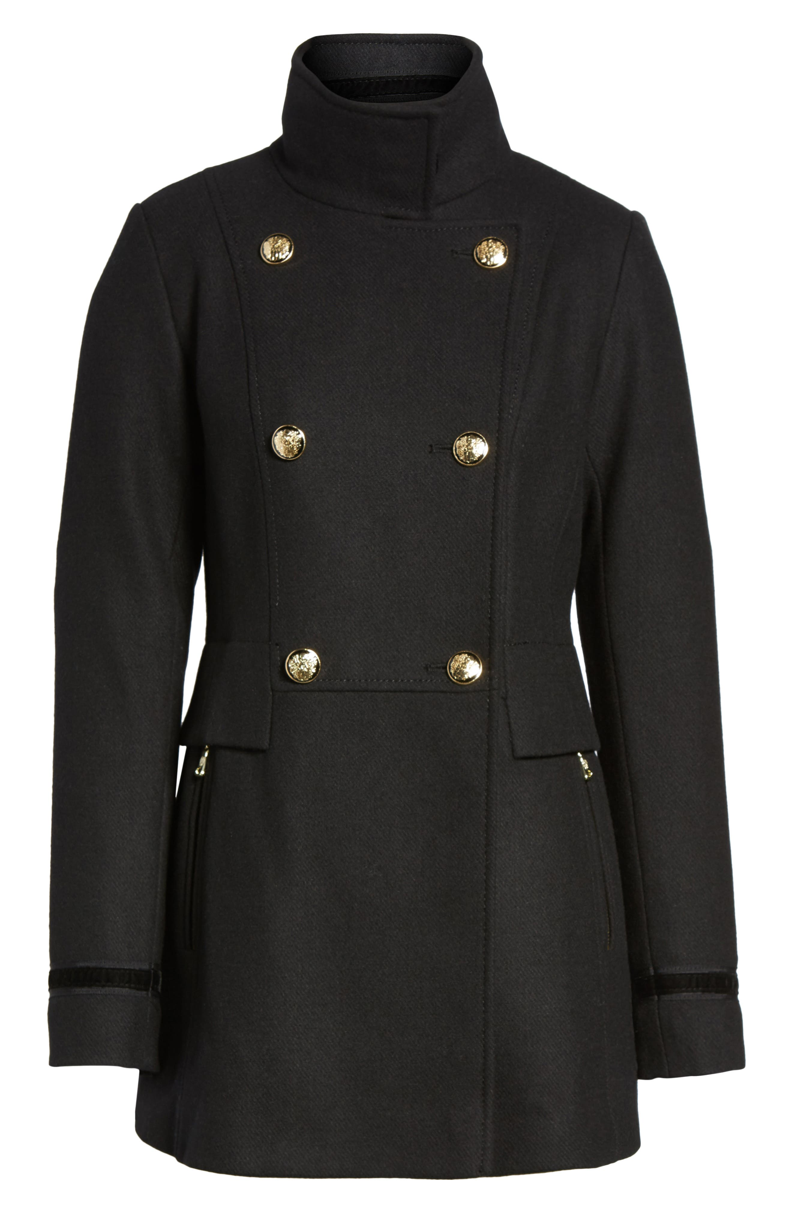 Alternate Image 1 Selected - Vince Camuto Wool Blend Military Coat