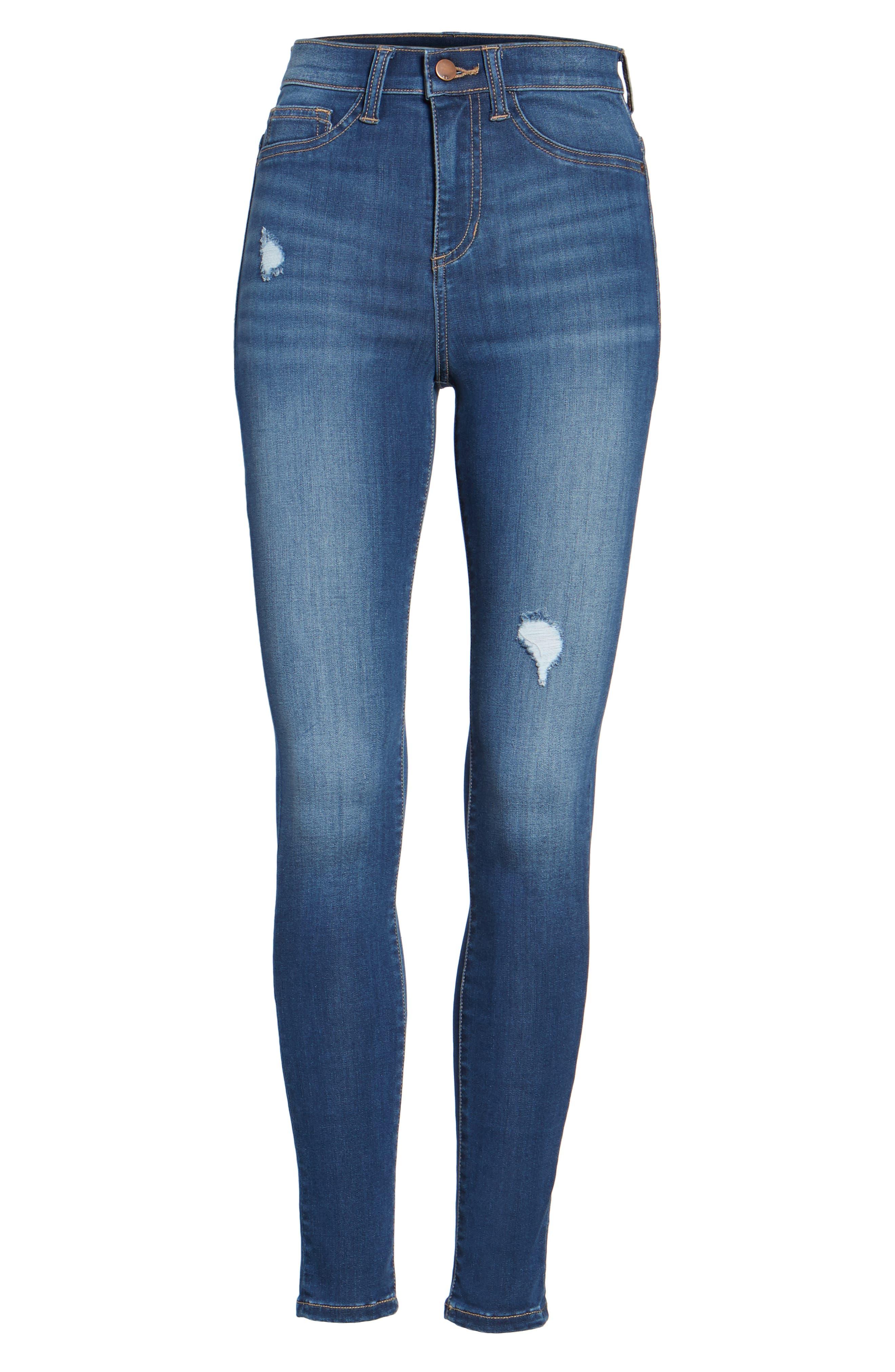 Alternate Image 5  - SP Black High Waist Skinny Jeans