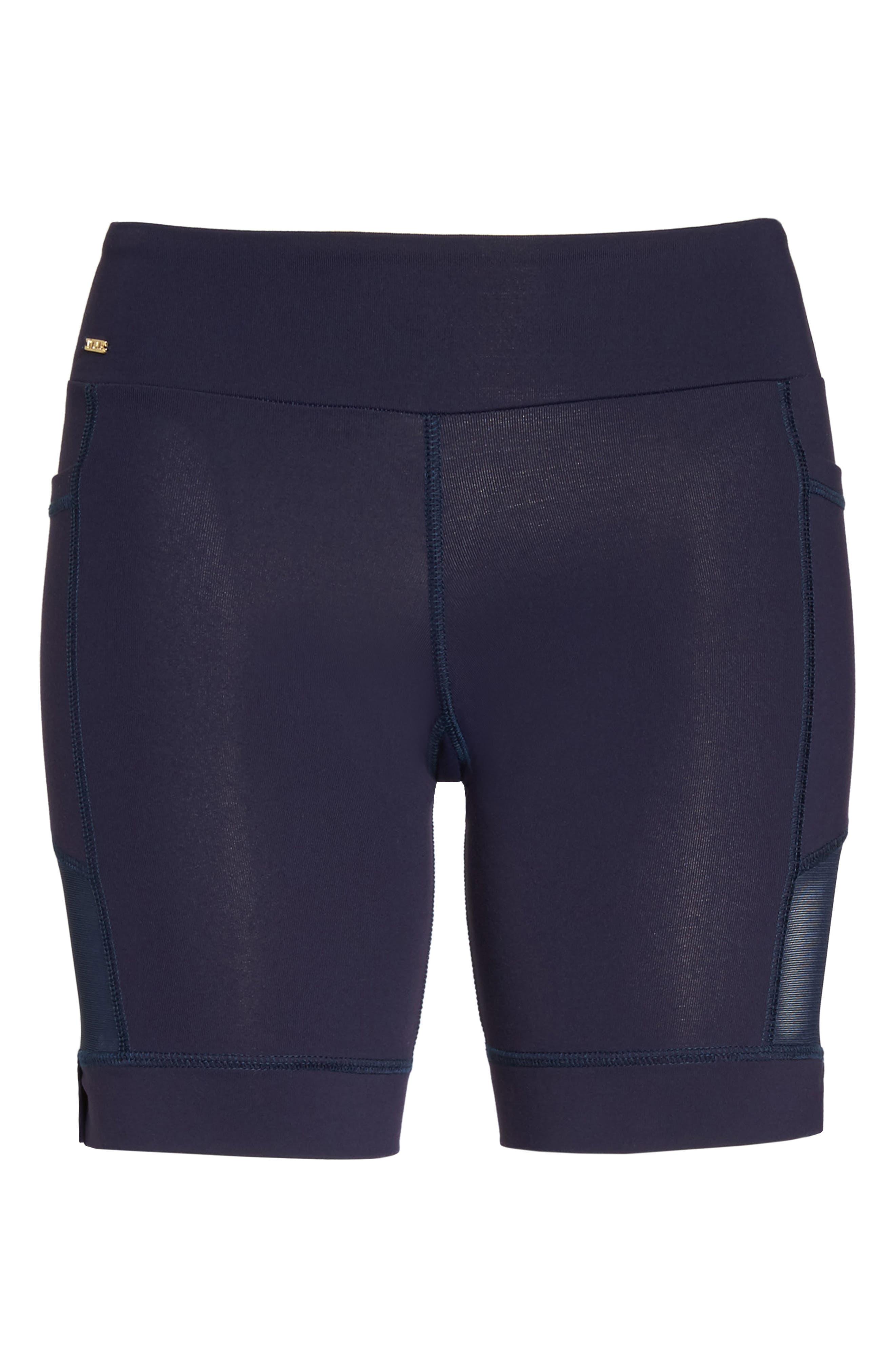 Nicole Active Shorts,                             Alternate thumbnail 4, color,                             Navy Mesh