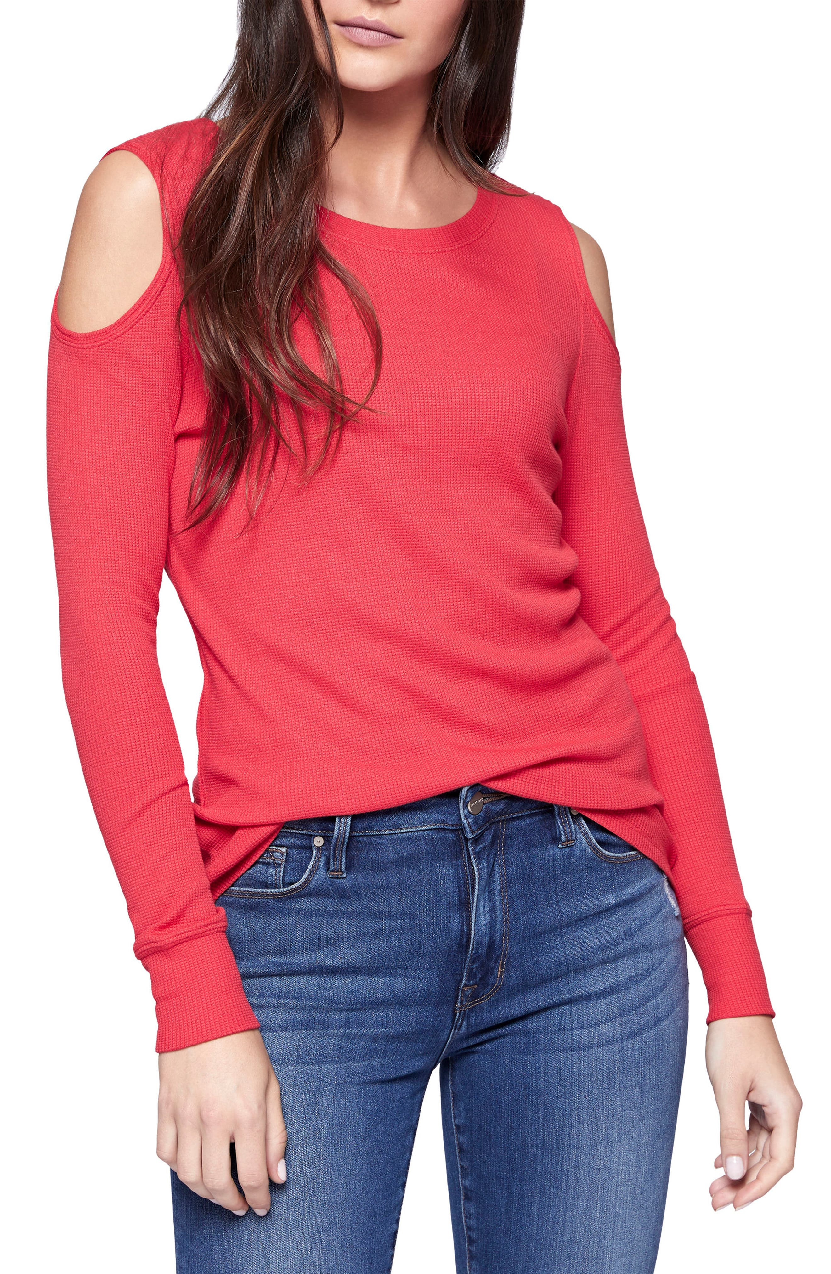 Sanctuary Bowery Cold Shoulder Thermal Tee (Regular & Petite)