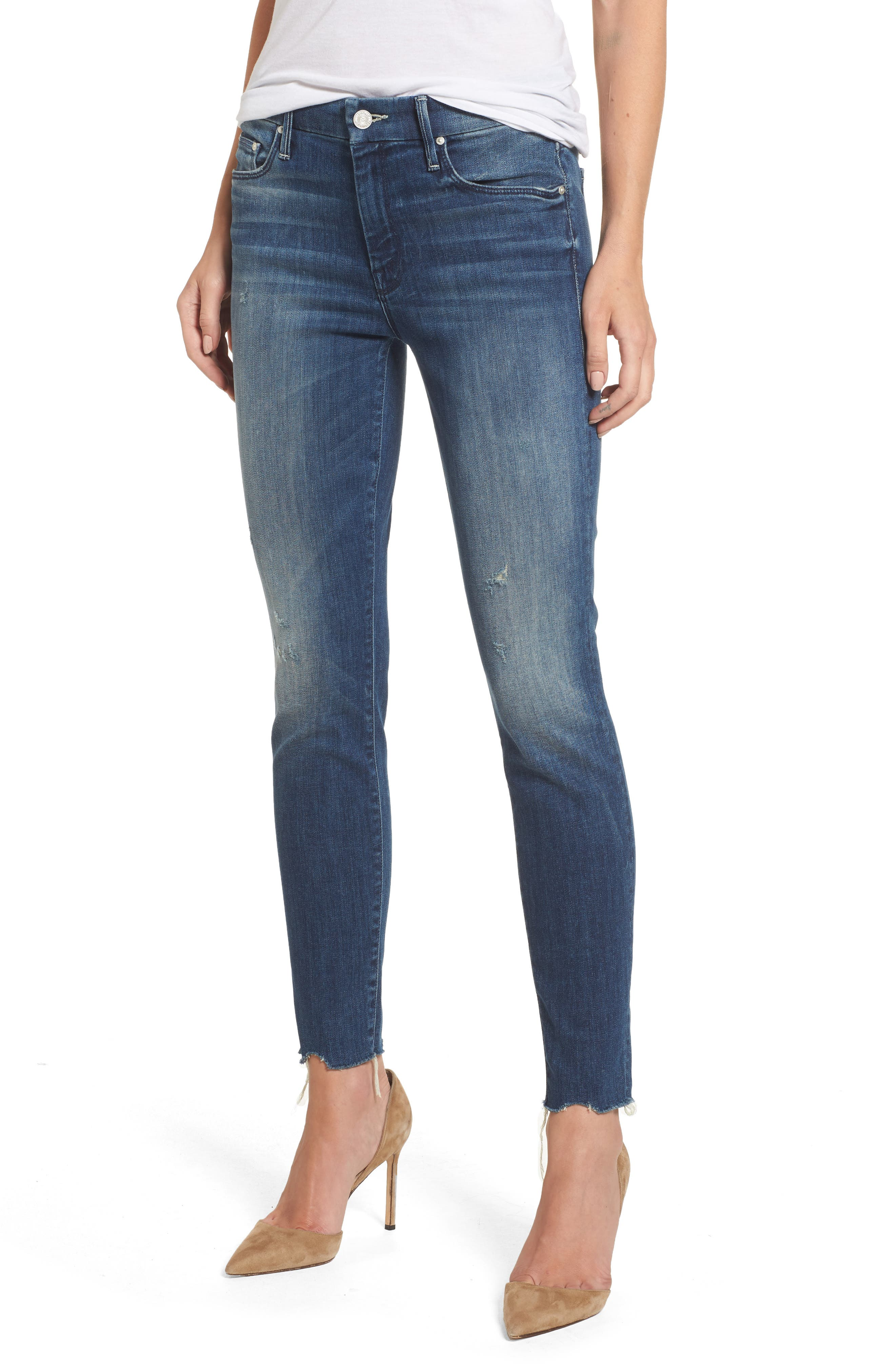 MOTHER The Looker Ankle Skinny Jeans (Breaking The Law)
