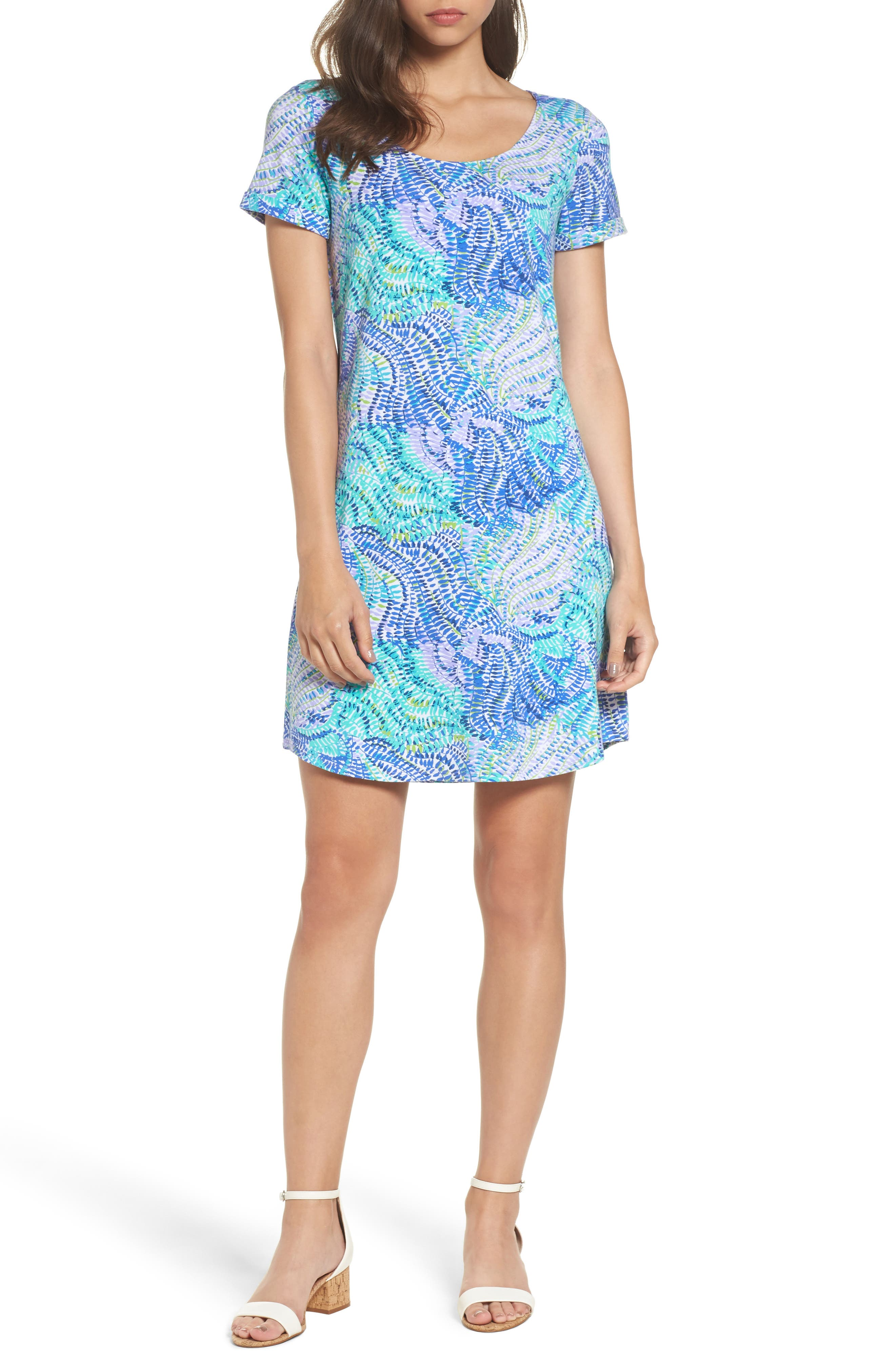 Tammy UPF 50 Dress,                         Main,                         color, Blue Current