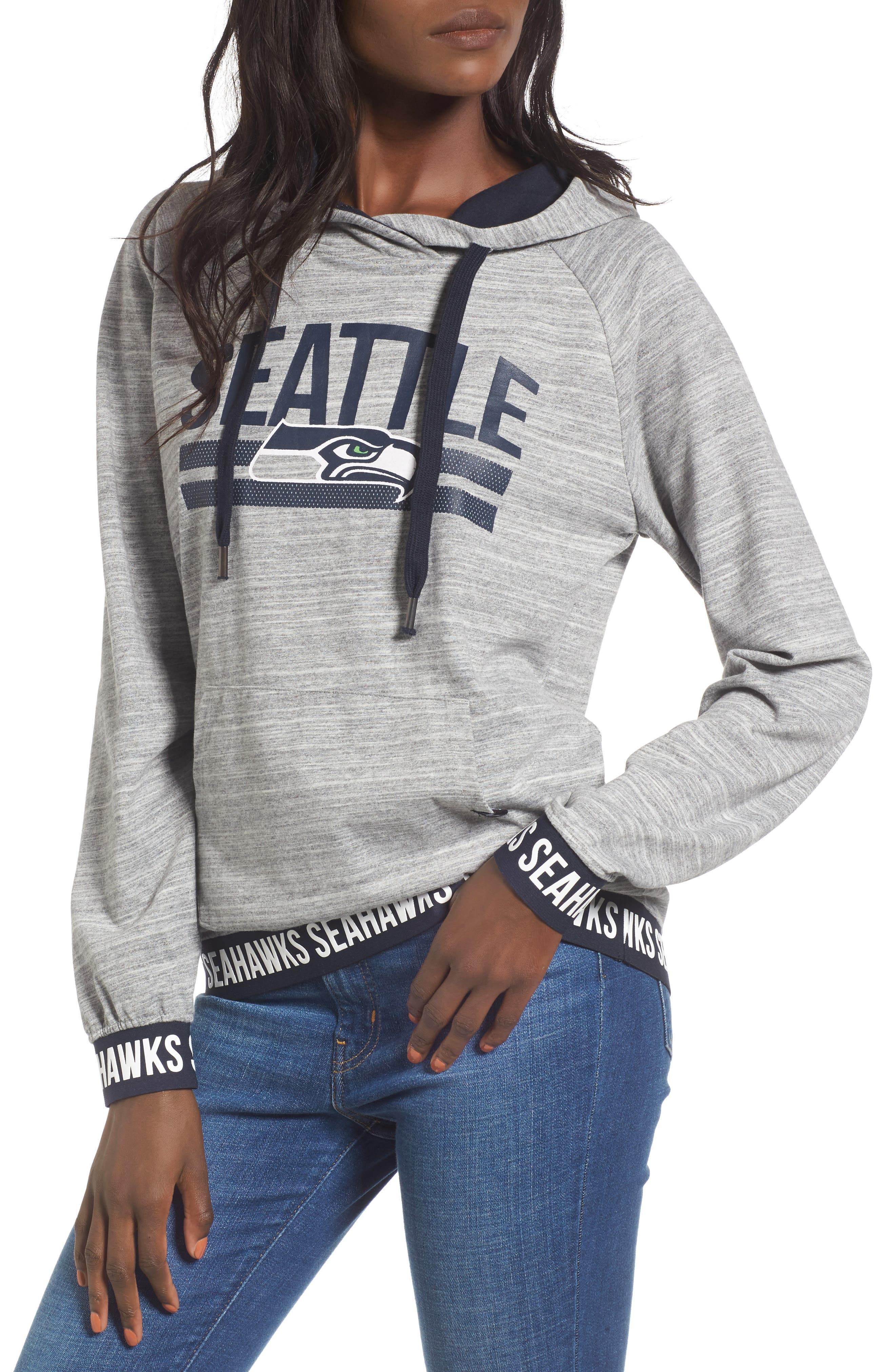 Revolve - Seattle Seahawks Hoodie,                             Main thumbnail 1, color,                             Space Dye Grey