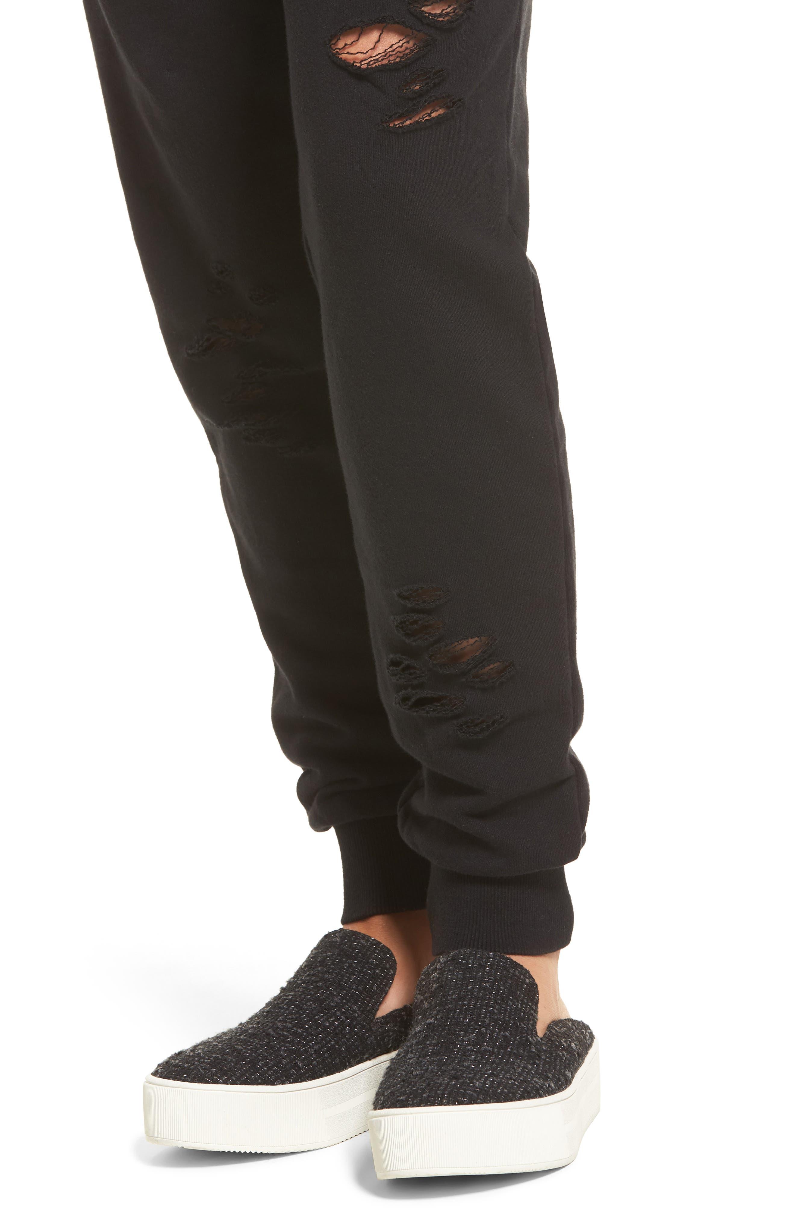 Alternate Image 4  - BP. Distressed Jogger Pants