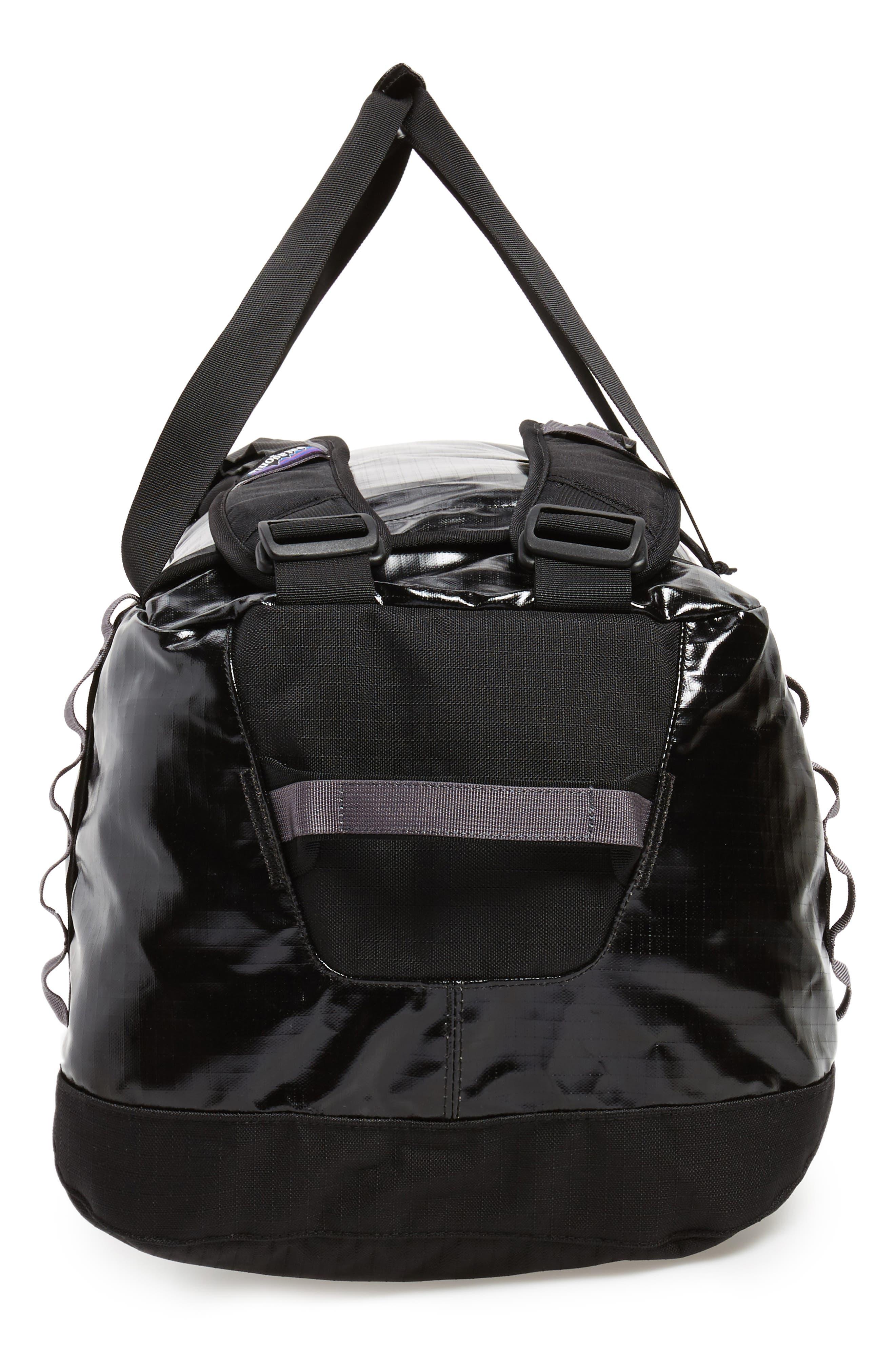Black Hole Water Repellent Duffel Bag,                             Alternate thumbnail 5, color,                             Black