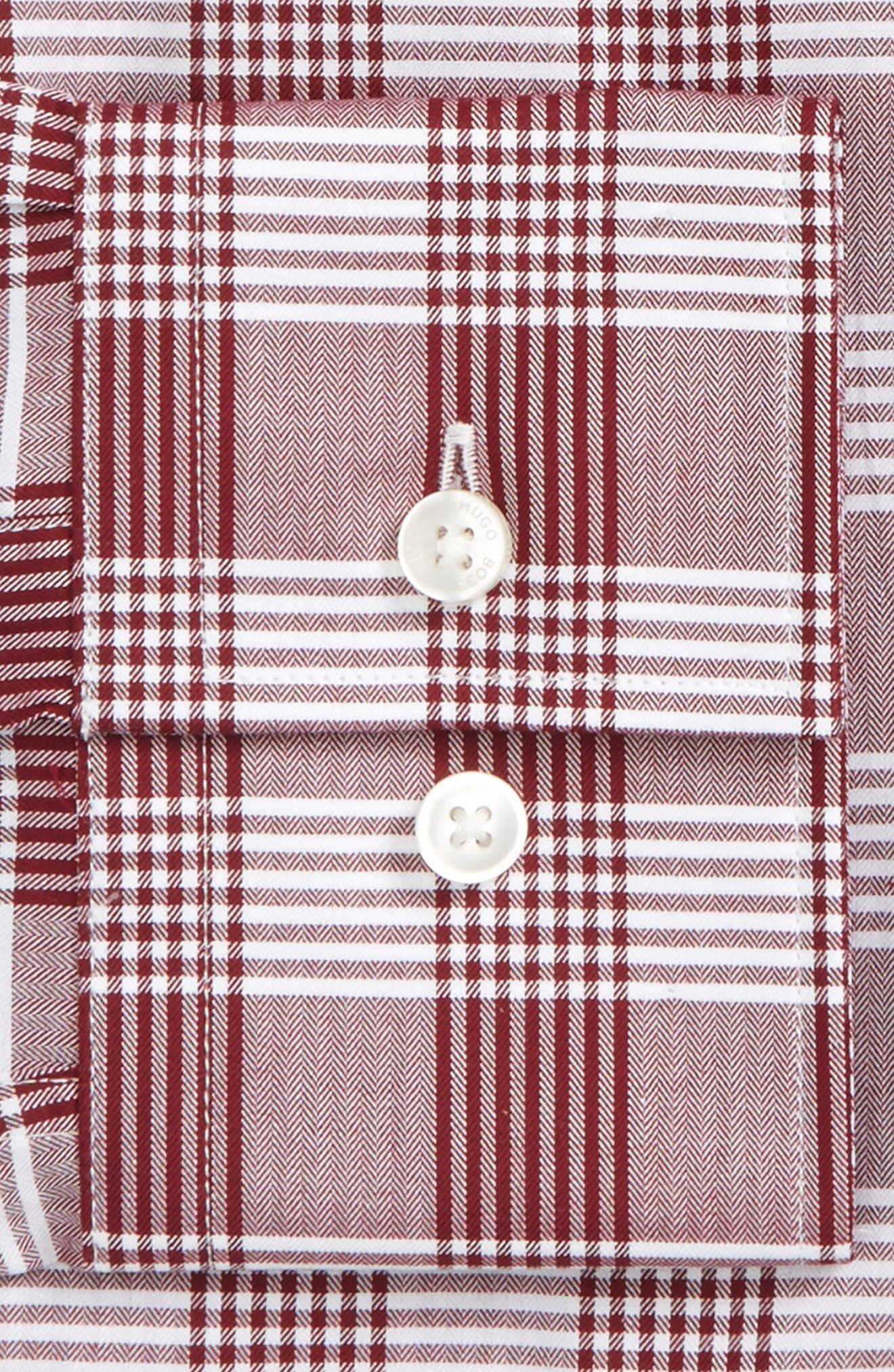 Jason Slim Fit Plaid Dress Shirt,                             Alternate thumbnail 2, color,                             Red