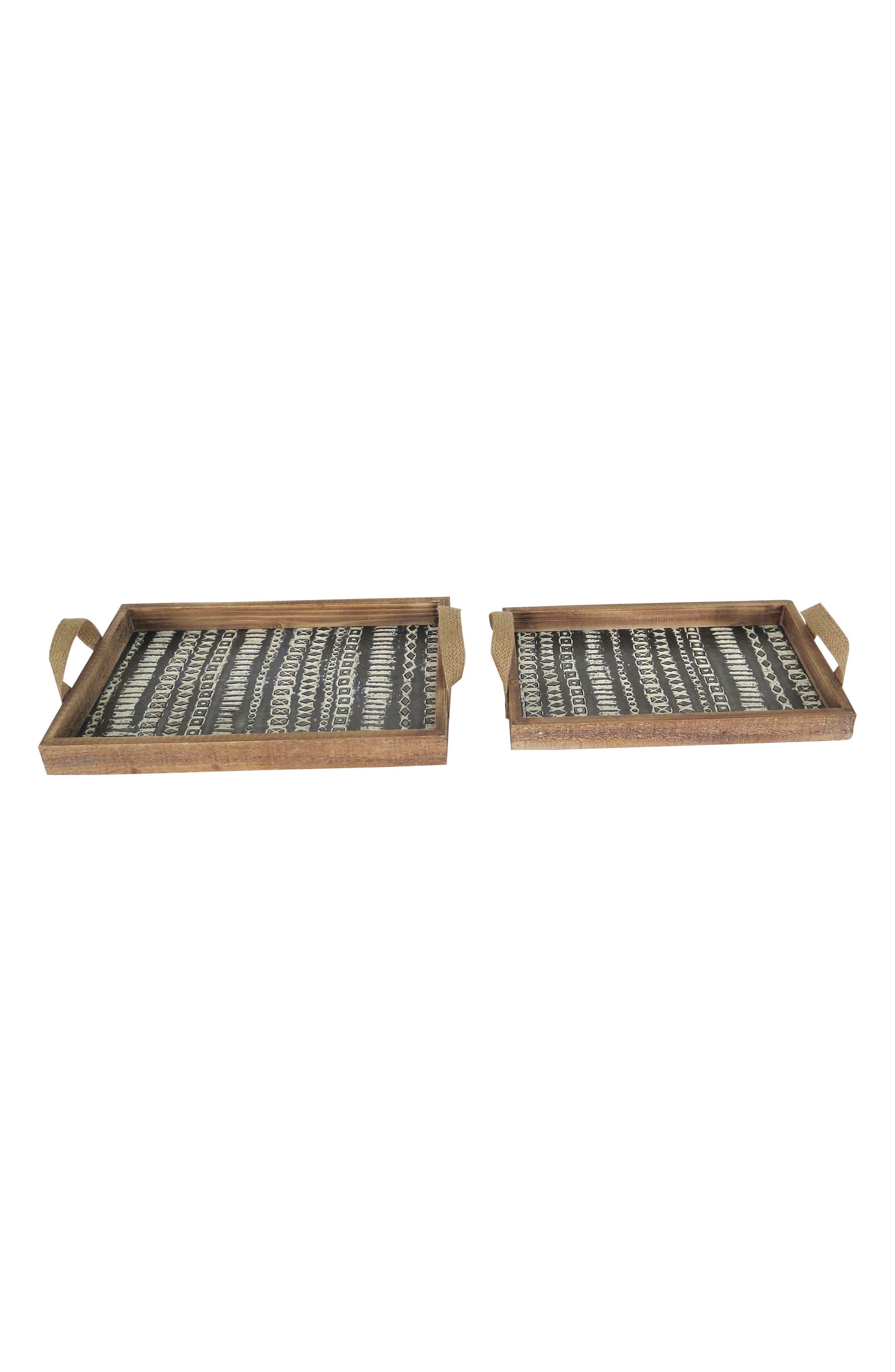 Bowden Set of 2 Trays,                             Main thumbnail 1, color,                             Wood