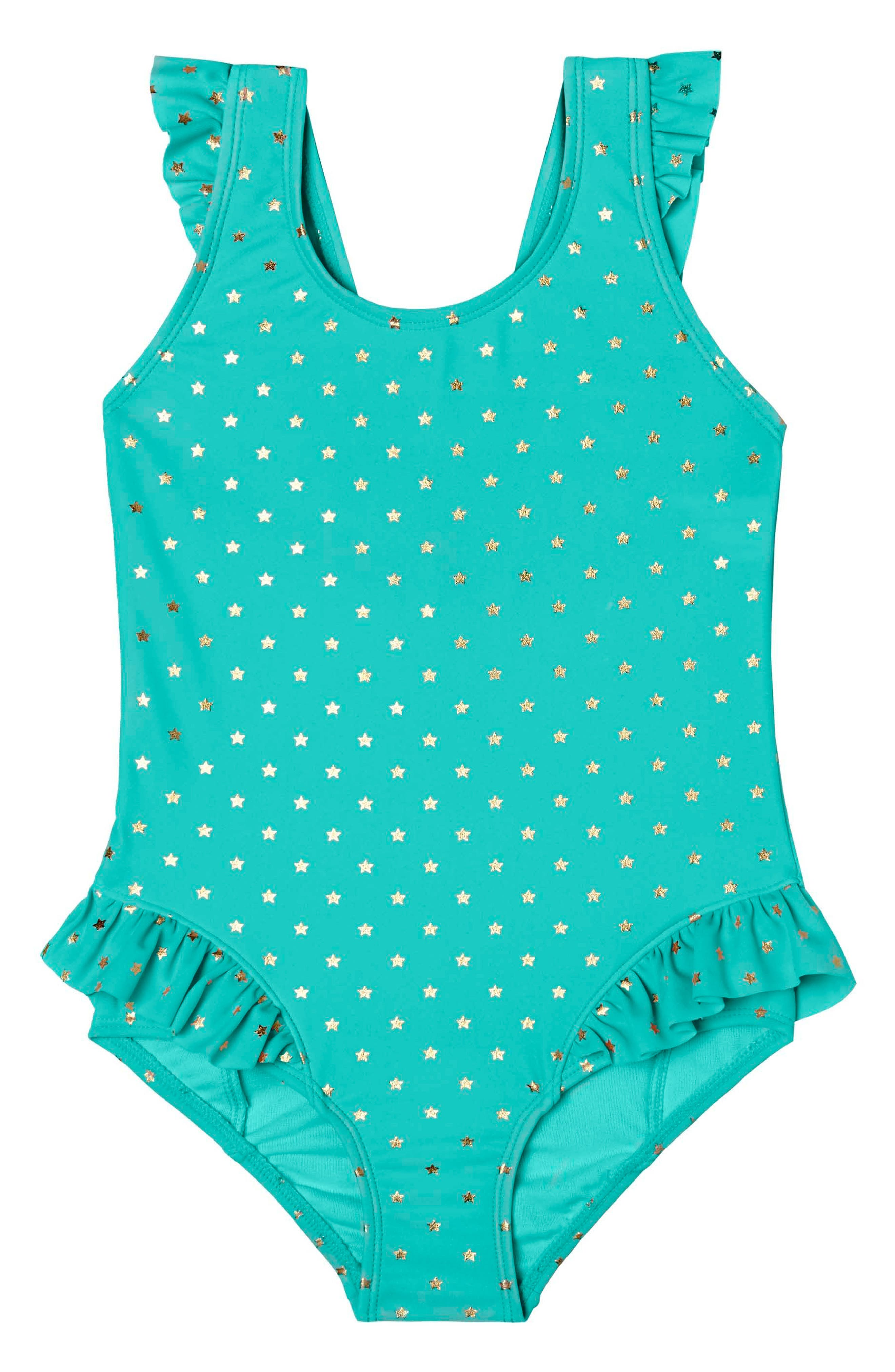 Main Image - Hula Star Twinkle Star One-Piece Swimsuit (Toddler Girls & Little Girls)