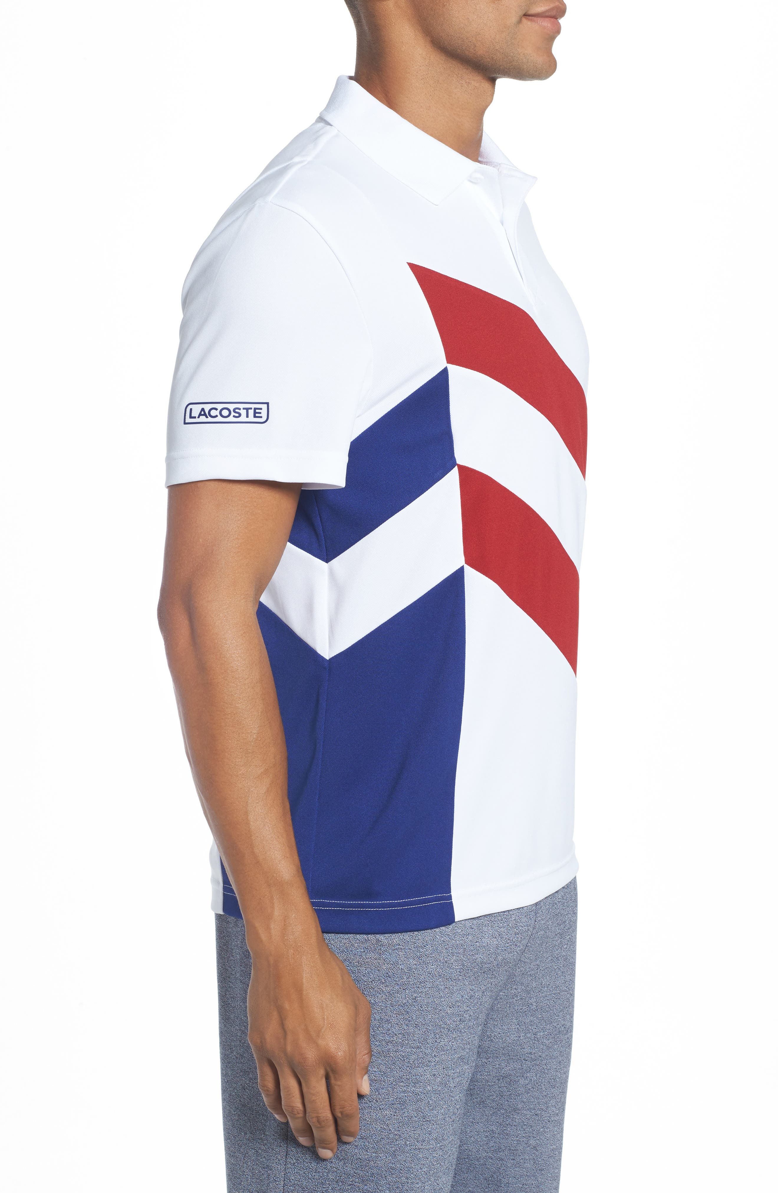 Alternate Image 3  - Lacoste Asymmetrical Colorblocked Polo