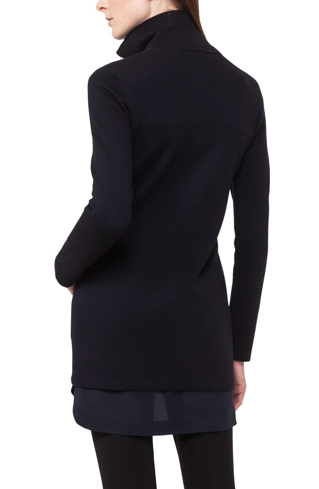 Stretch Wool Milano Knit Cardigan,                             Alternate thumbnail 2, color,                             Navy