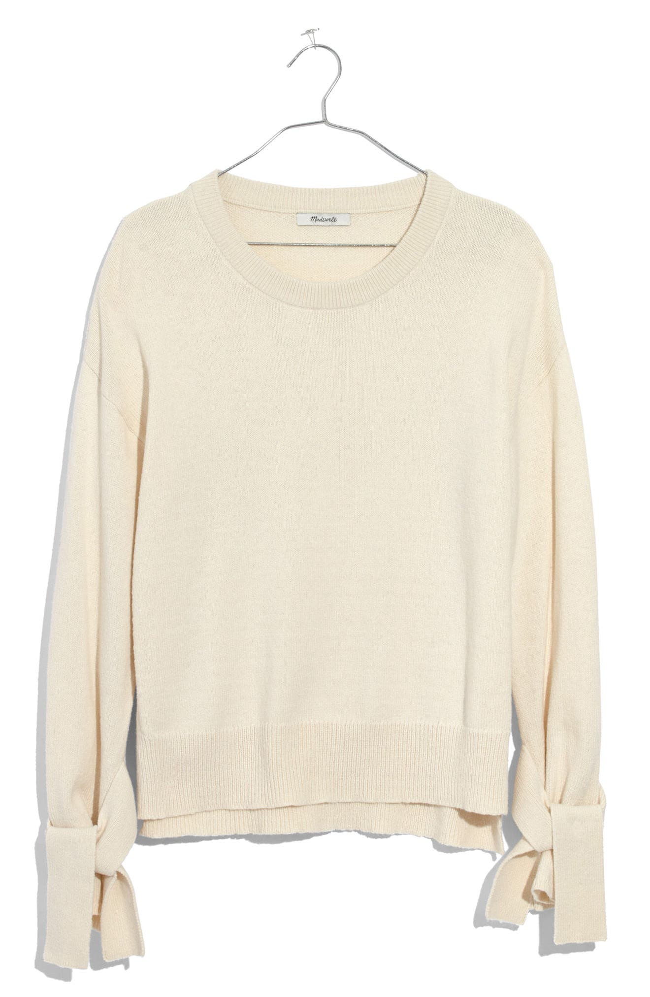 Madewell Tie Cuff Pullover Sweater