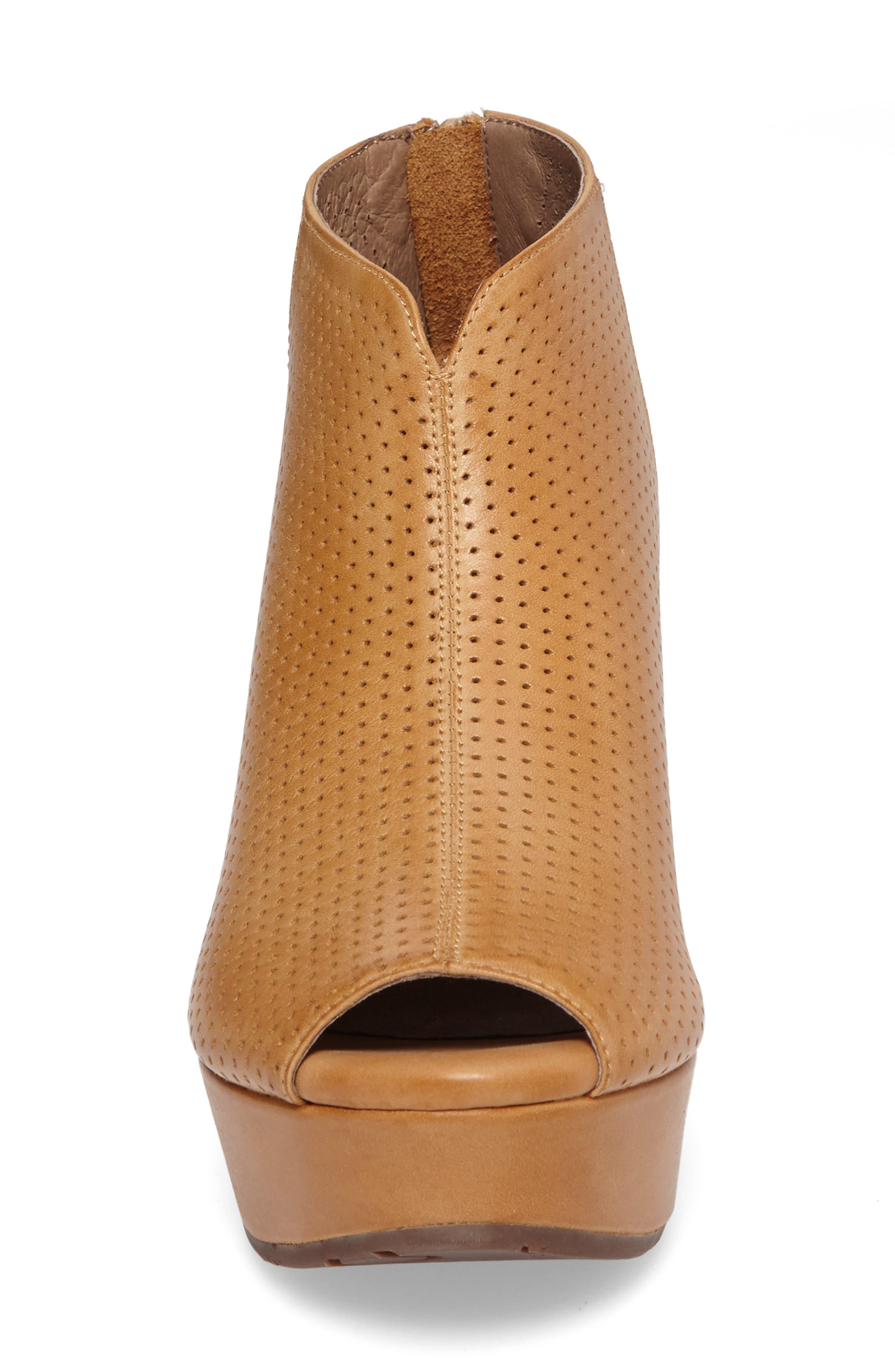 Alternate Image 4  - Chocolat Blu Walee Peep Toe Platform Bootie (Women)