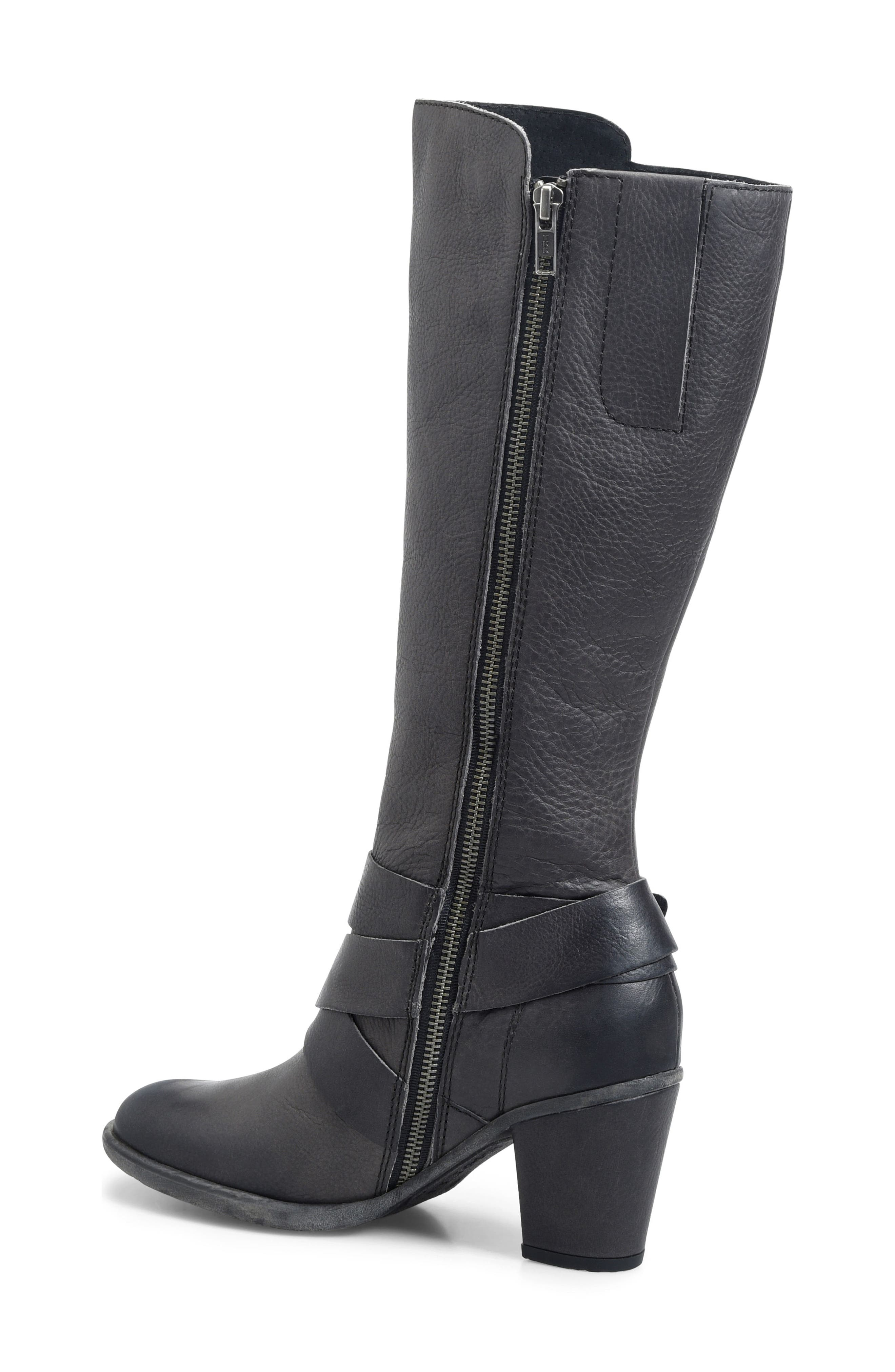 Cresent Knee High Boot,                             Alternate thumbnail 2, color,                             Dark Grey Leather