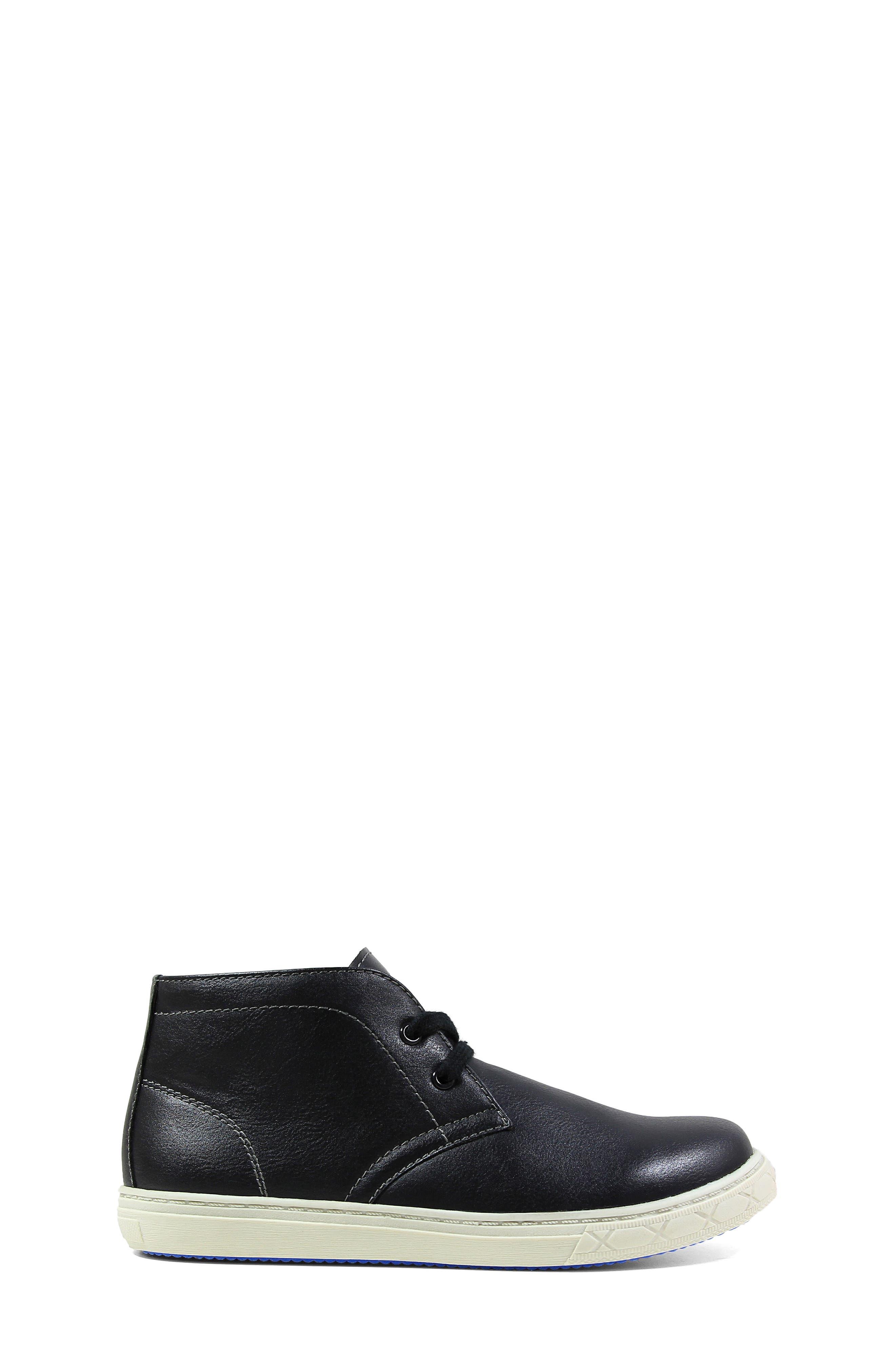 Curb Chukka Sneaker Boot,                             Alternate thumbnail 3, color,                             Black