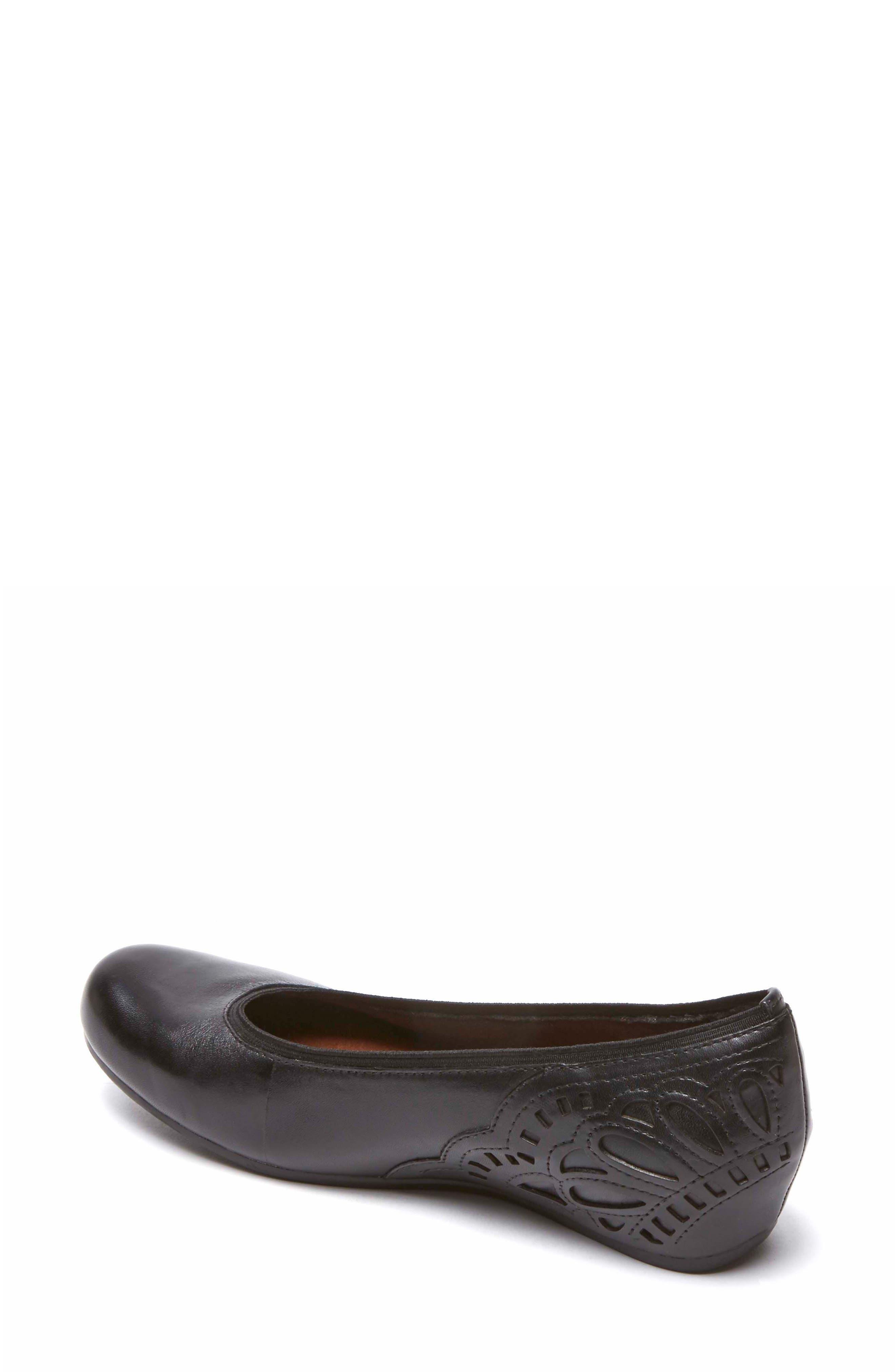 Sharleen Wedge Pump,                             Alternate thumbnail 2, color,                             Black Leather