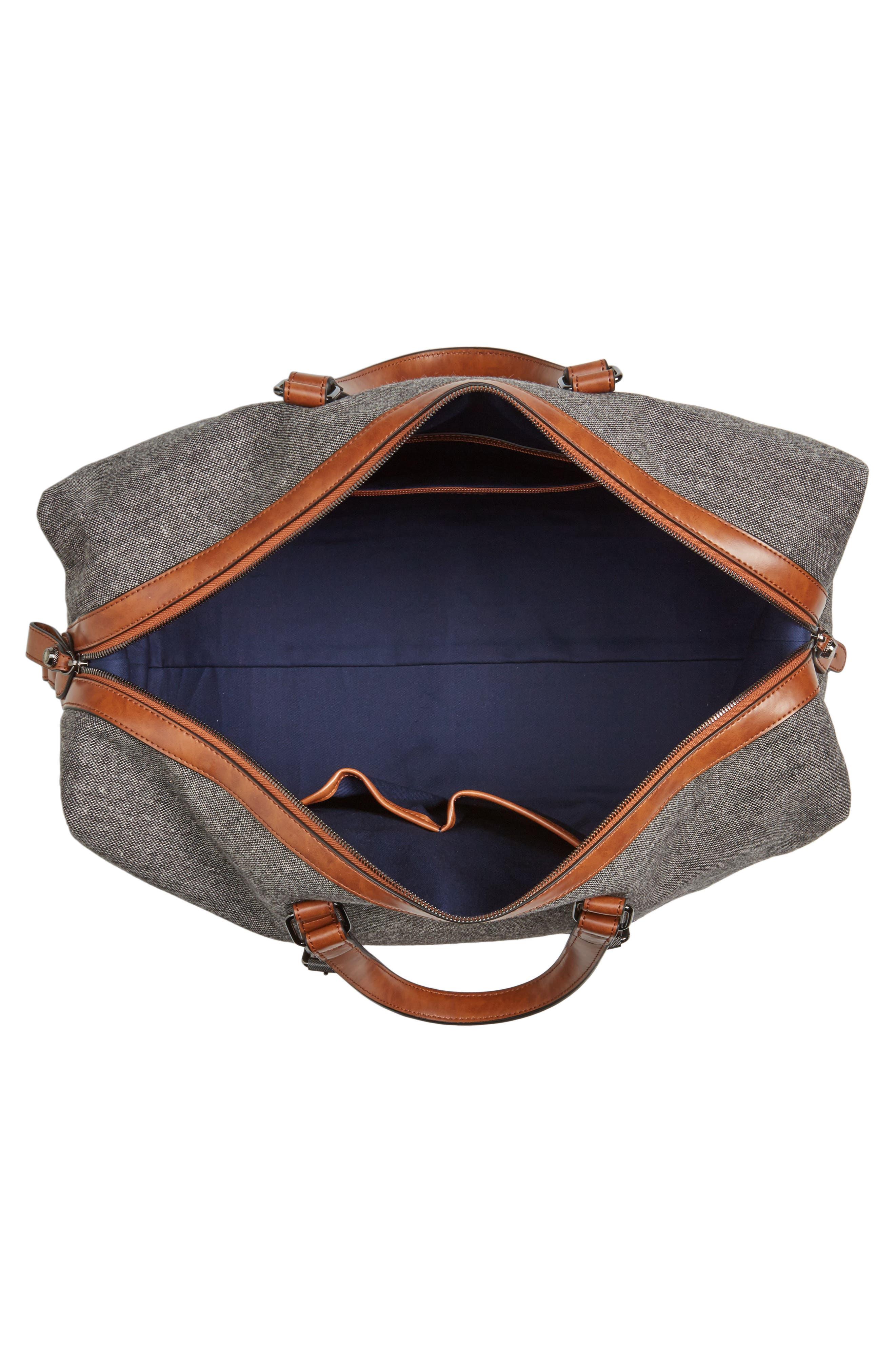 Tailor Wool Duffel Bag,                             Alternate thumbnail 4, color,                             Grey