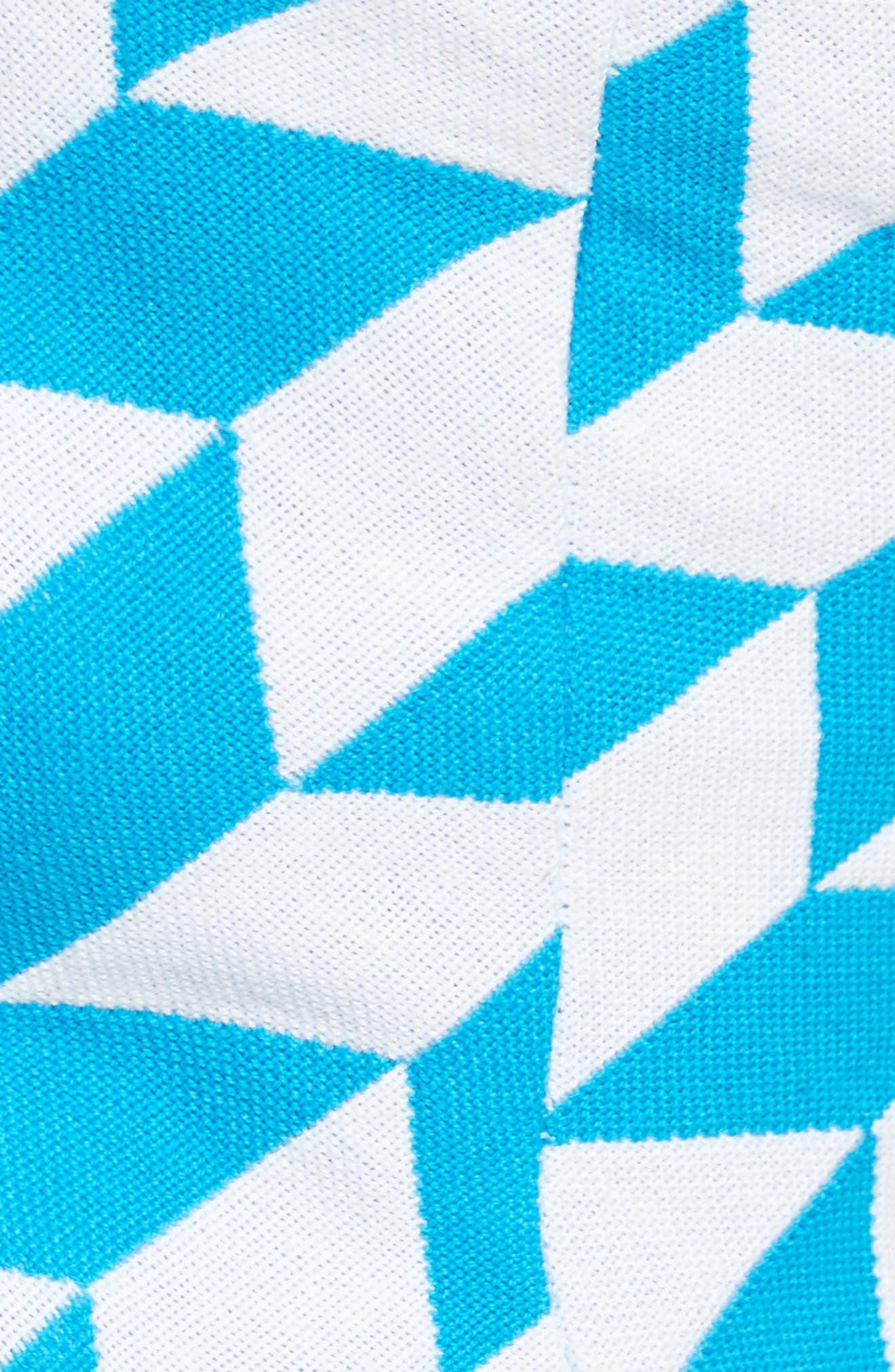 Simple Geo Pattern Bustier,                             Alternate thumbnail 7, color,                             Blue White