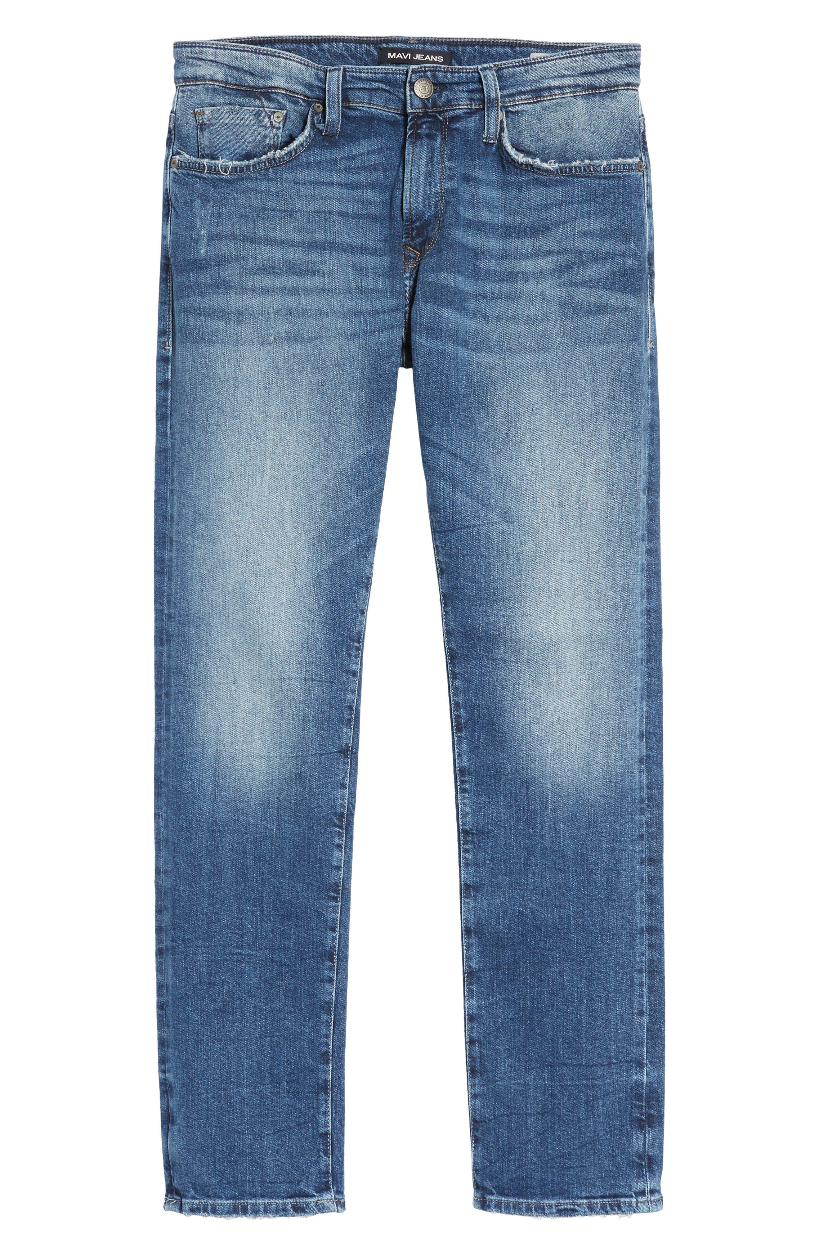 Alternate Image 6  - Mavi Jeans Marcus Slim Straight Leg Jeans (Destroyed Authentic Vintage)