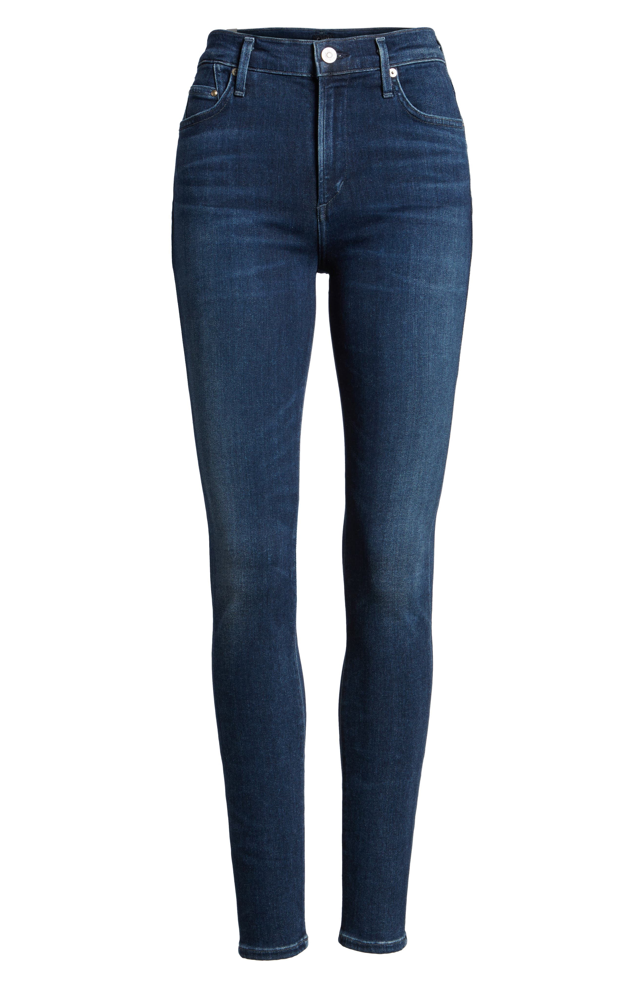 Sculpt - Rocket High Waist Skinny Jeans,                             Alternate thumbnail 7, color,                             Waverly
