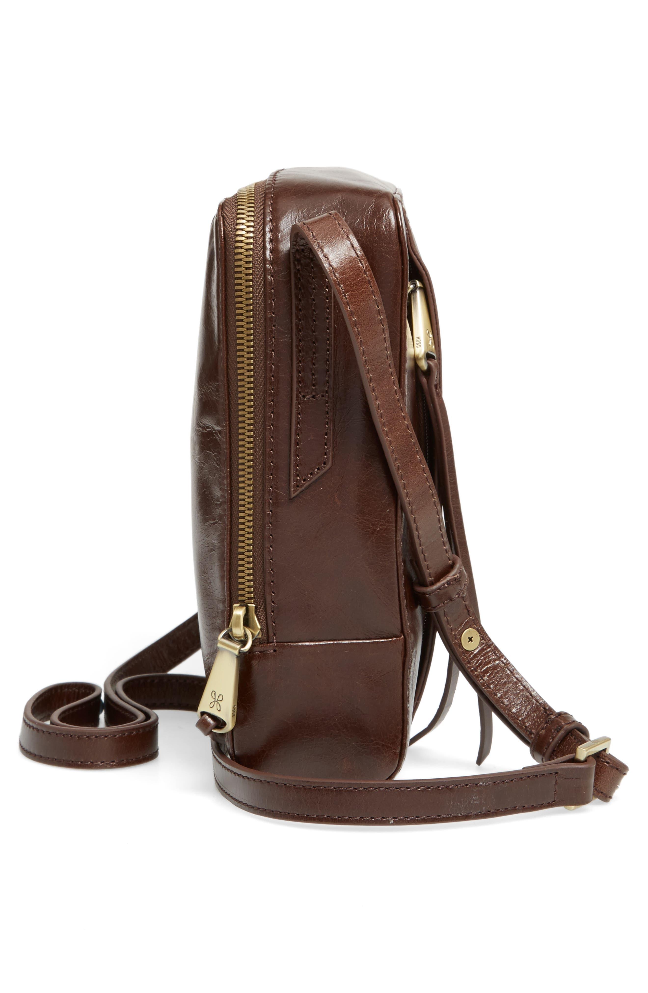 Lyric Leather Crossbody Bag,                             Alternate thumbnail 5, color,                             Espresso