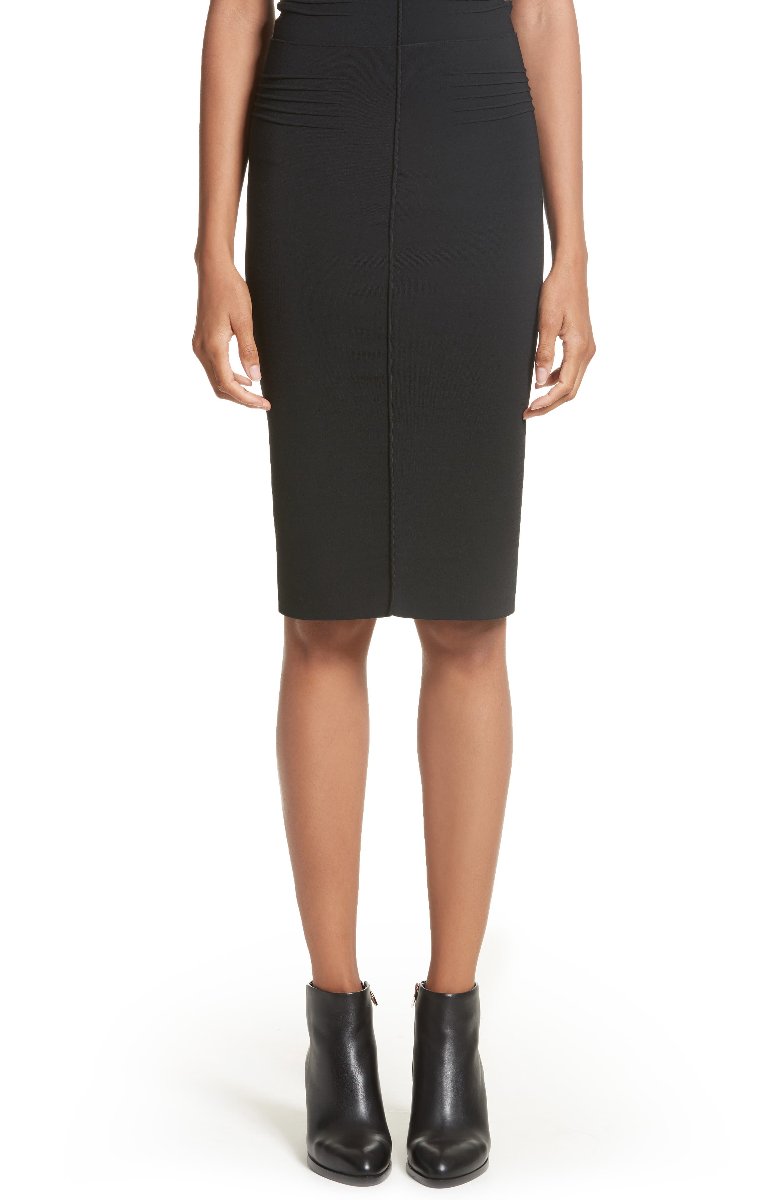 Knit Pencil Skirt,                         Main,                         color, Black