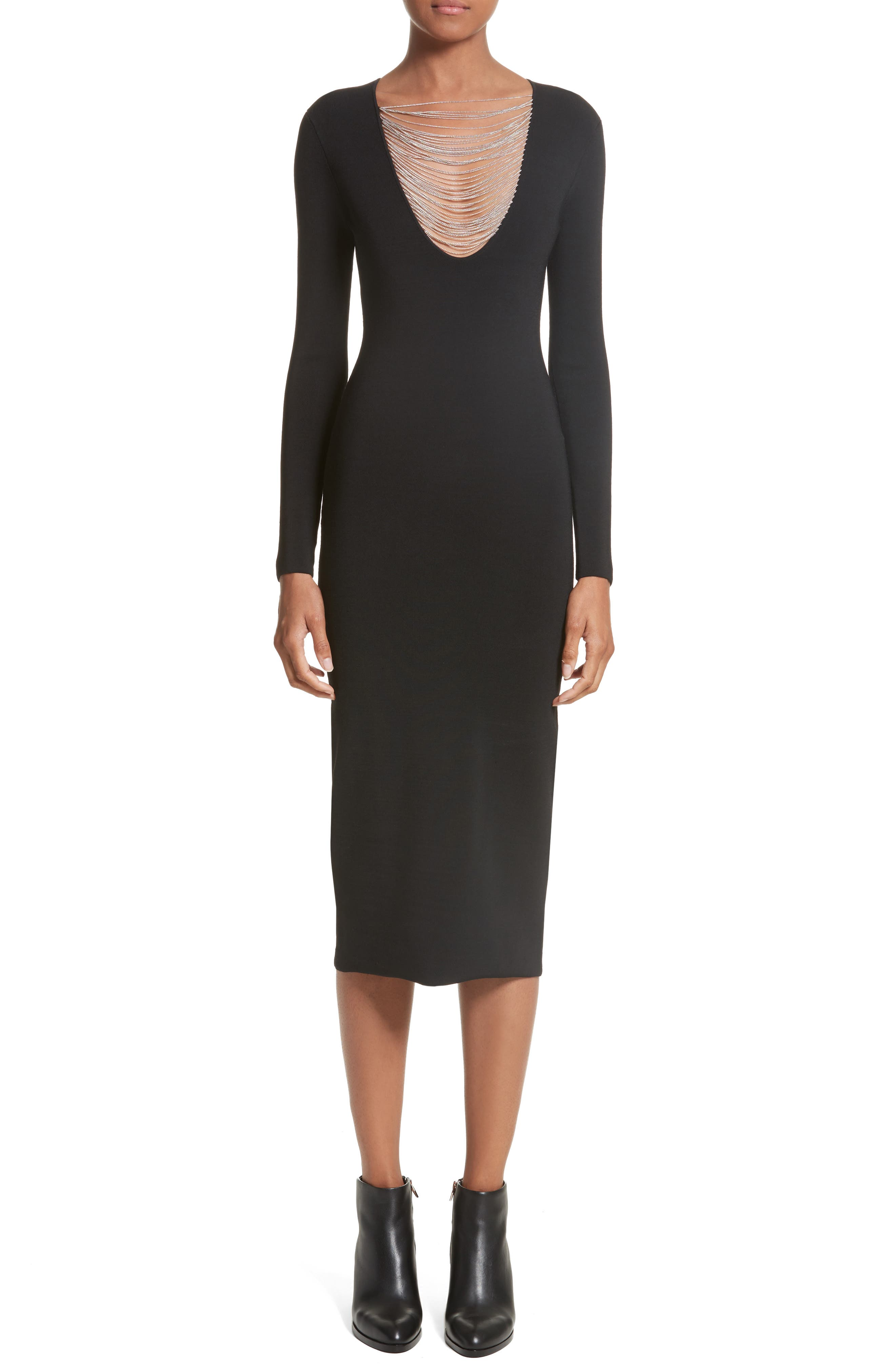 Alternate Image 1 Selected - Alexander Wang Necklace Chain Dress