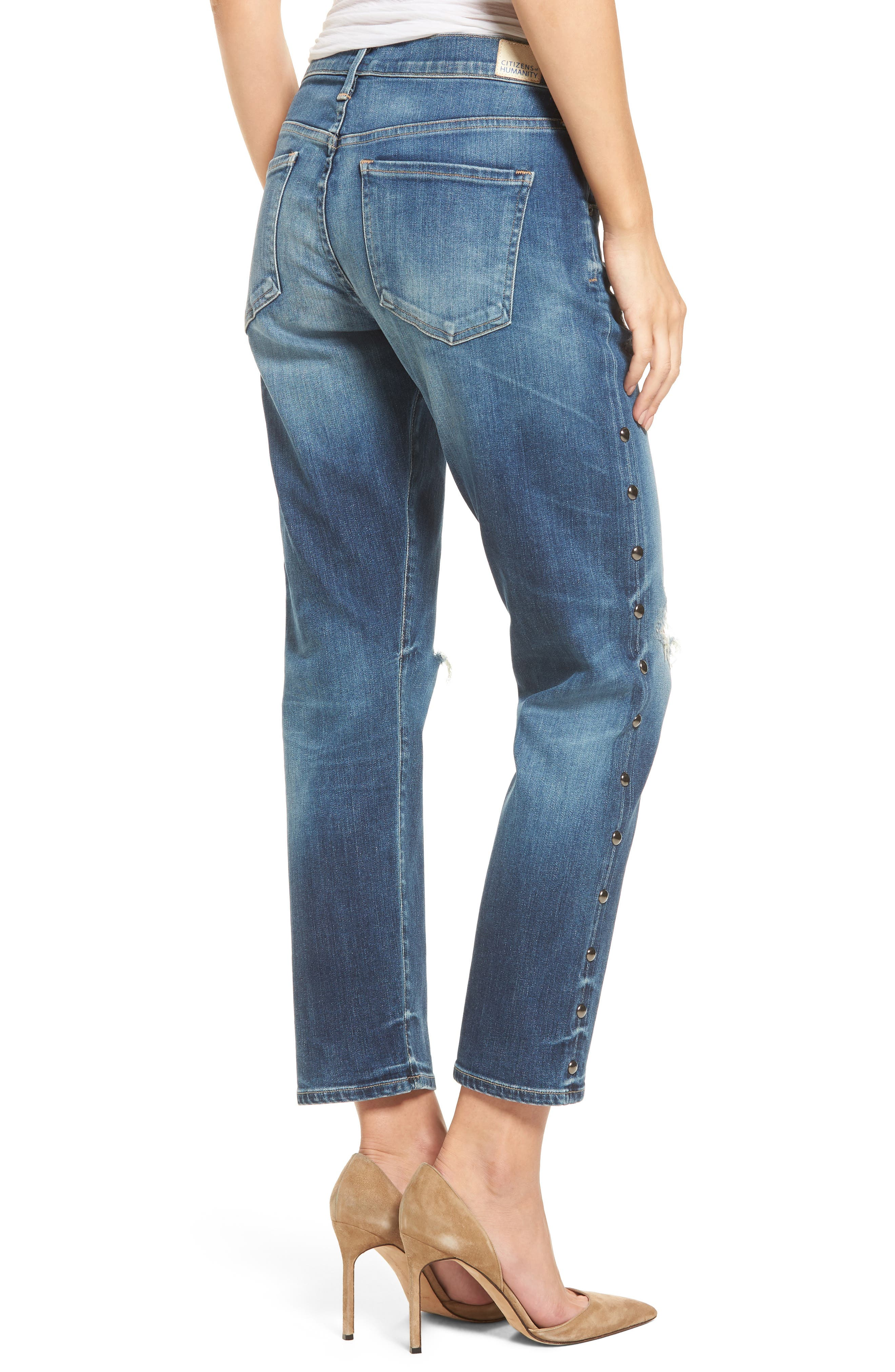 Alternate Image 2  - Citizens of Humanity Emerson Slim Boyfriend Jeans (Studded Stetson)