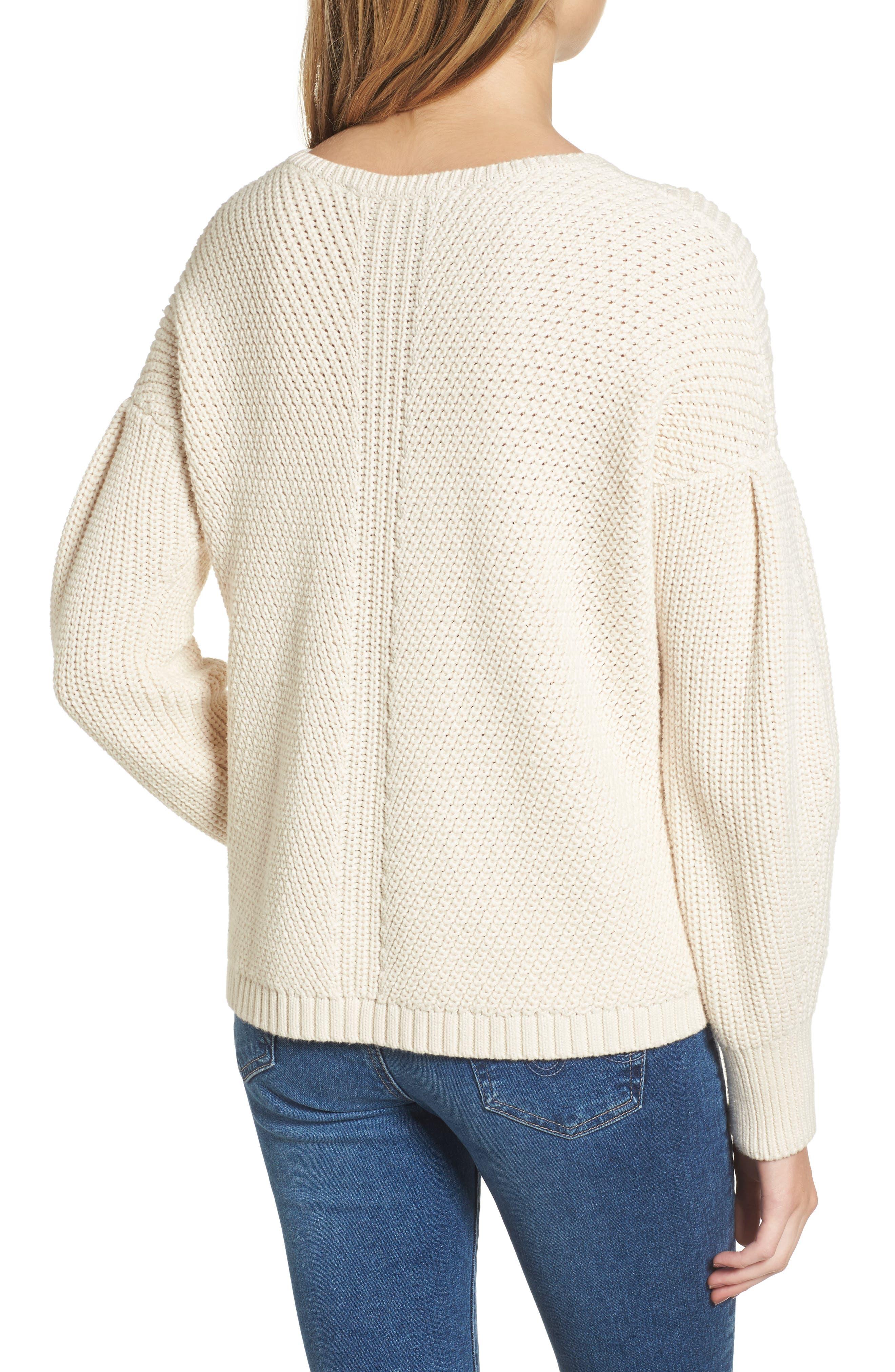 Millie Mozart Sweater,                             Alternate thumbnail 2, color,                             Classic Cream